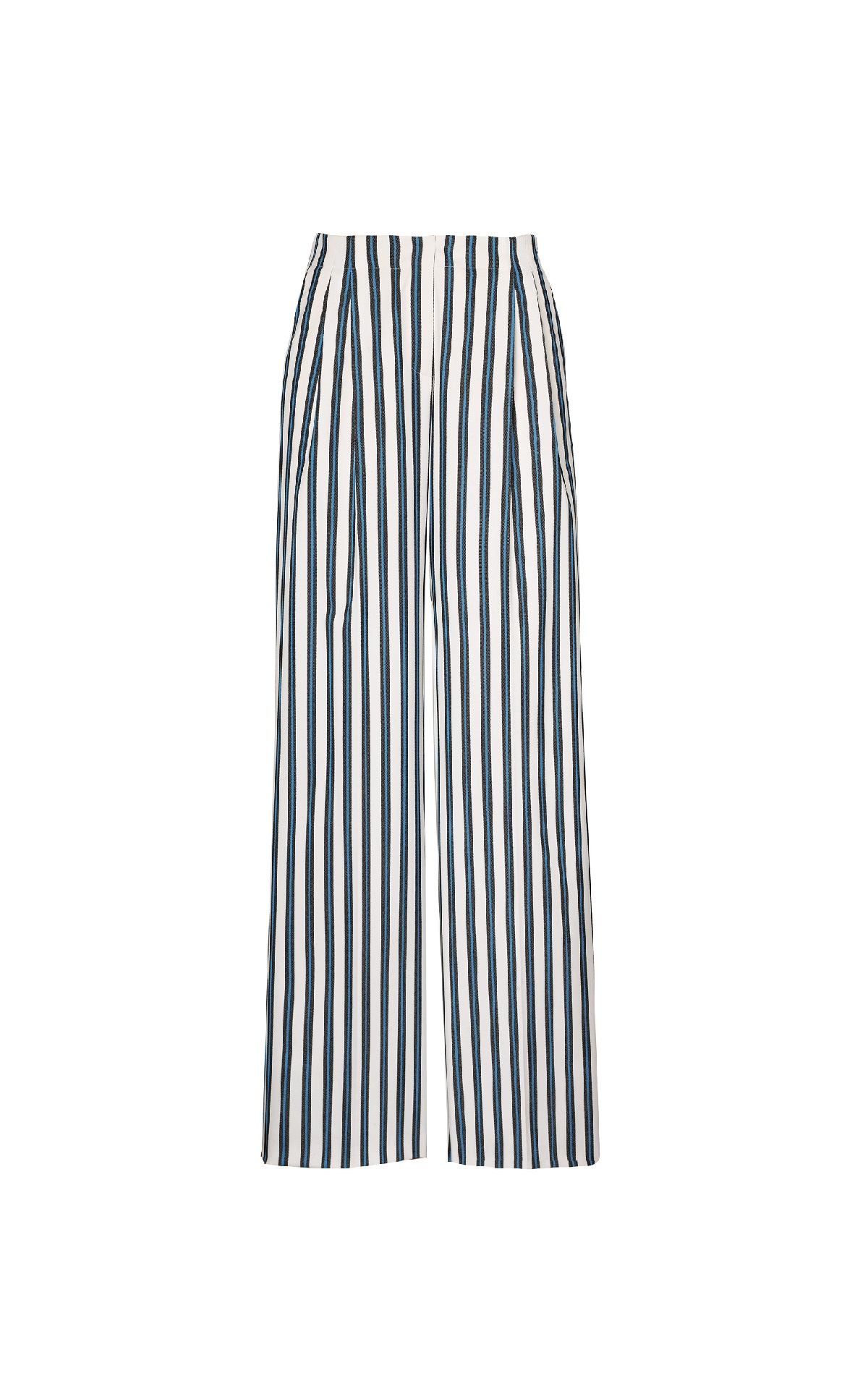 Blue and white striped pants Escada