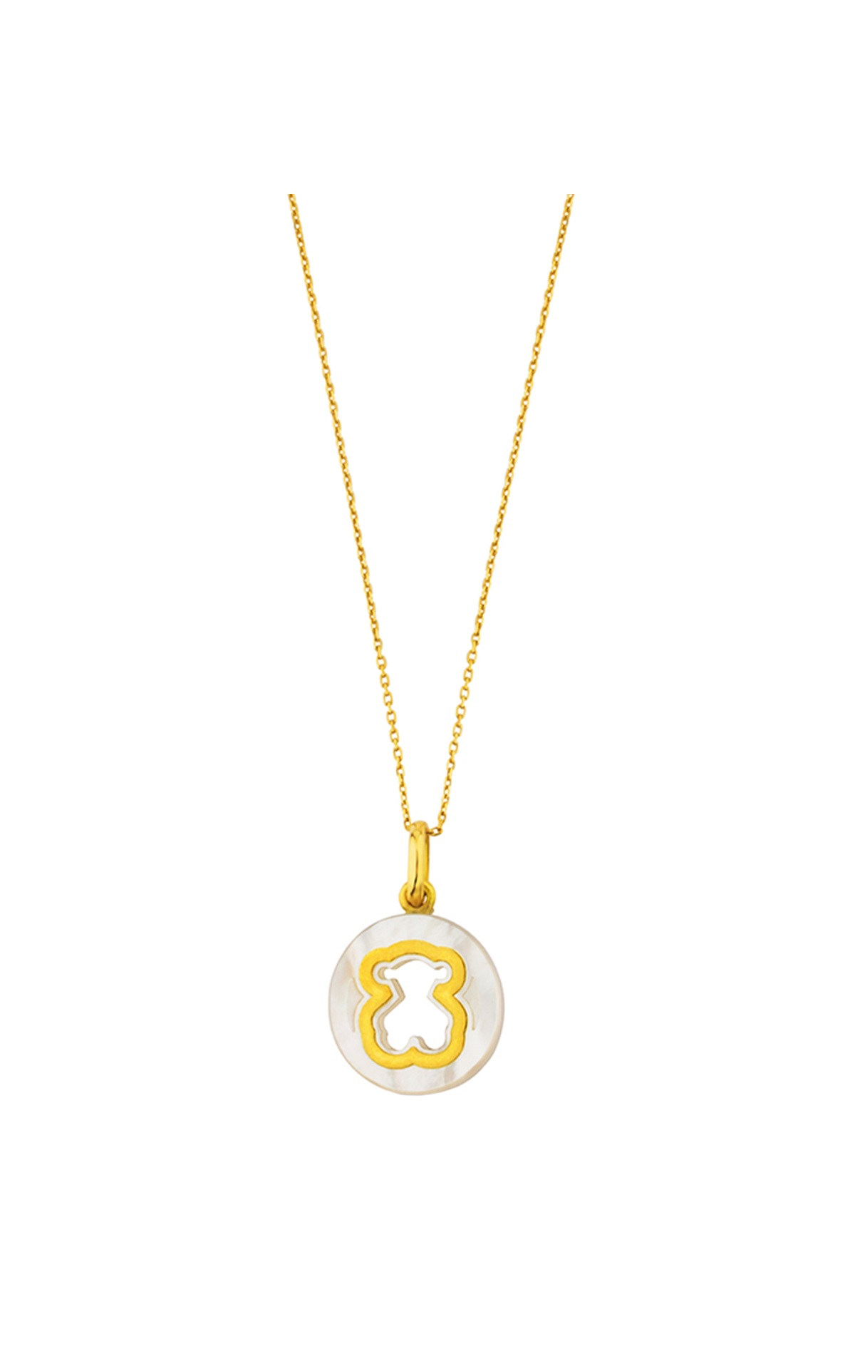 Gold necklace with bear Tous