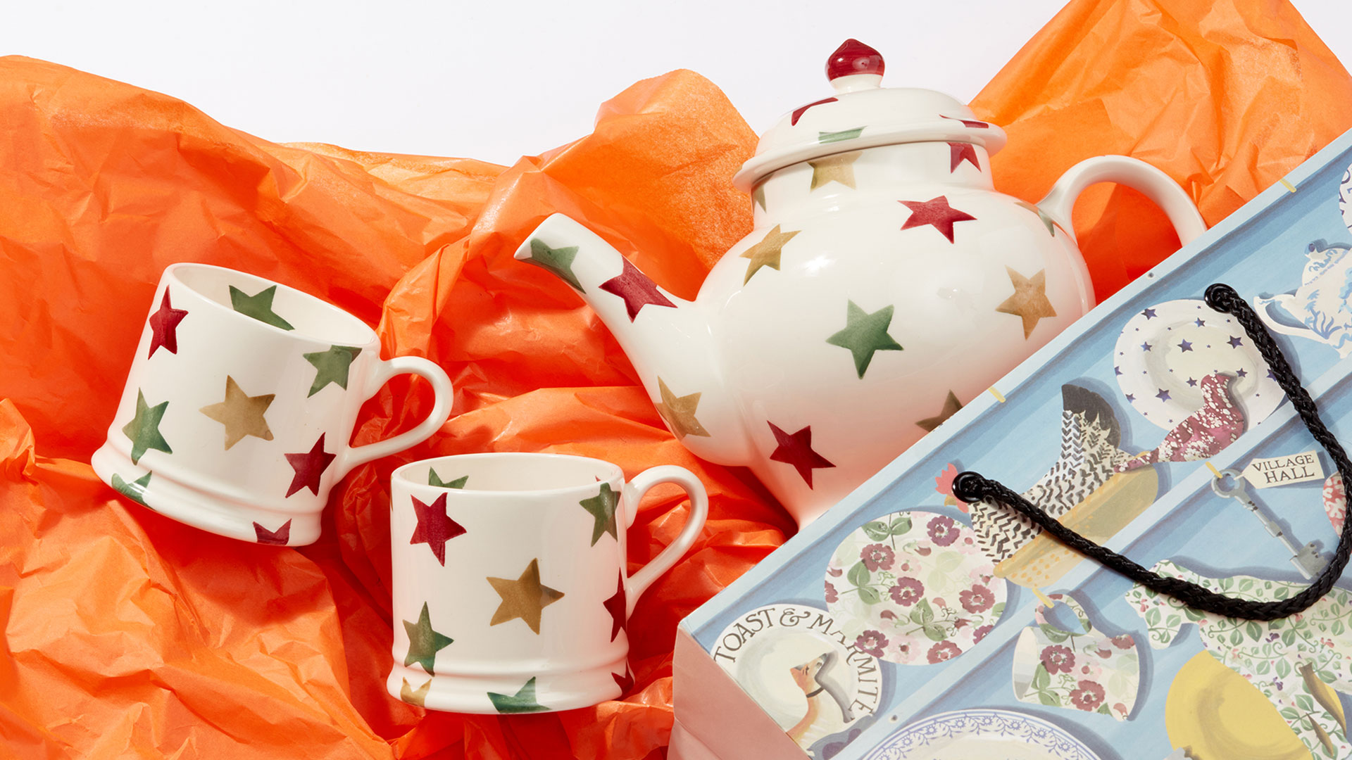 Emma Bridgewater Exclusive Star Tea Pot Set at Bicester Village