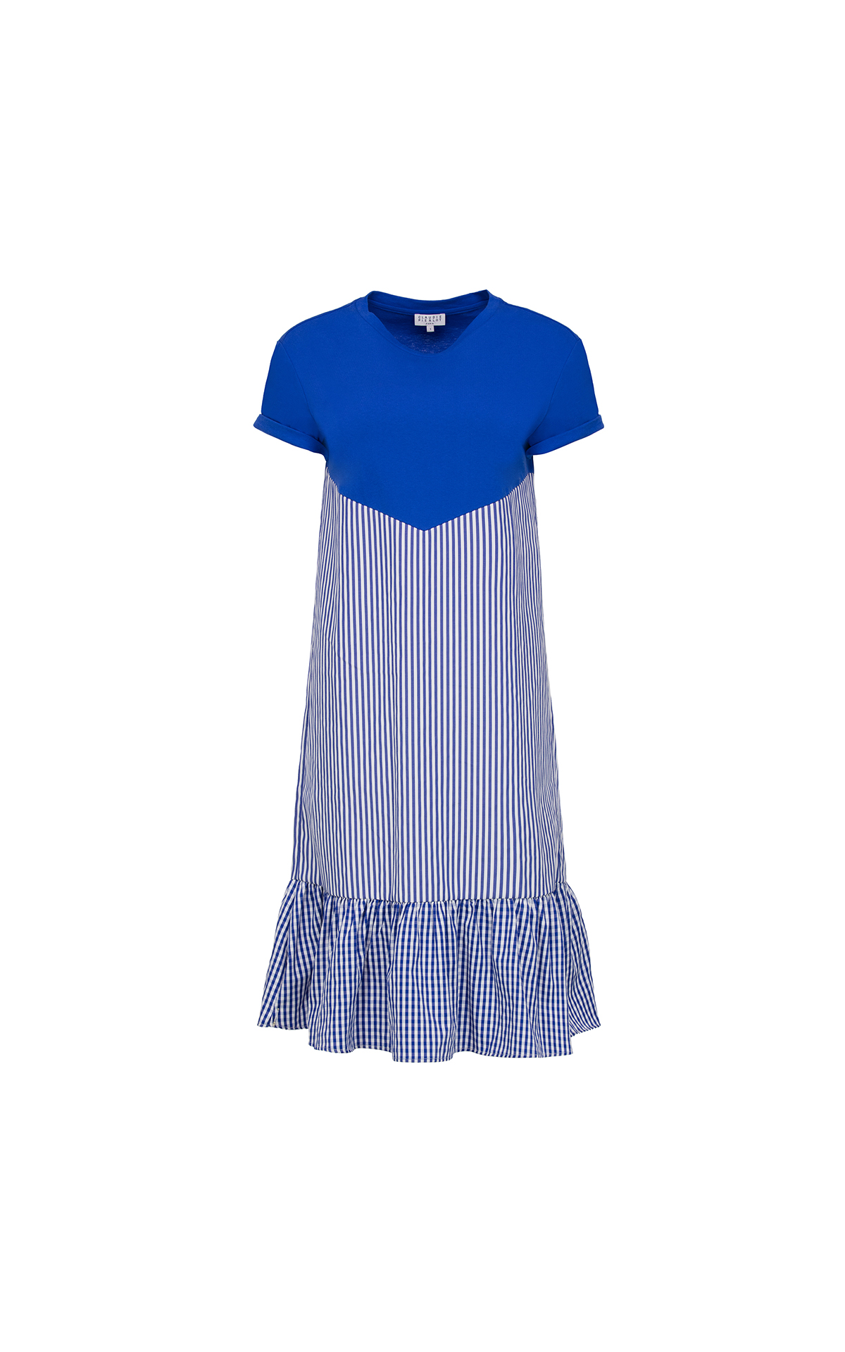 Claudie Pierlot Tomiji dress in indigo at The Bicester Village Shopping Collection
