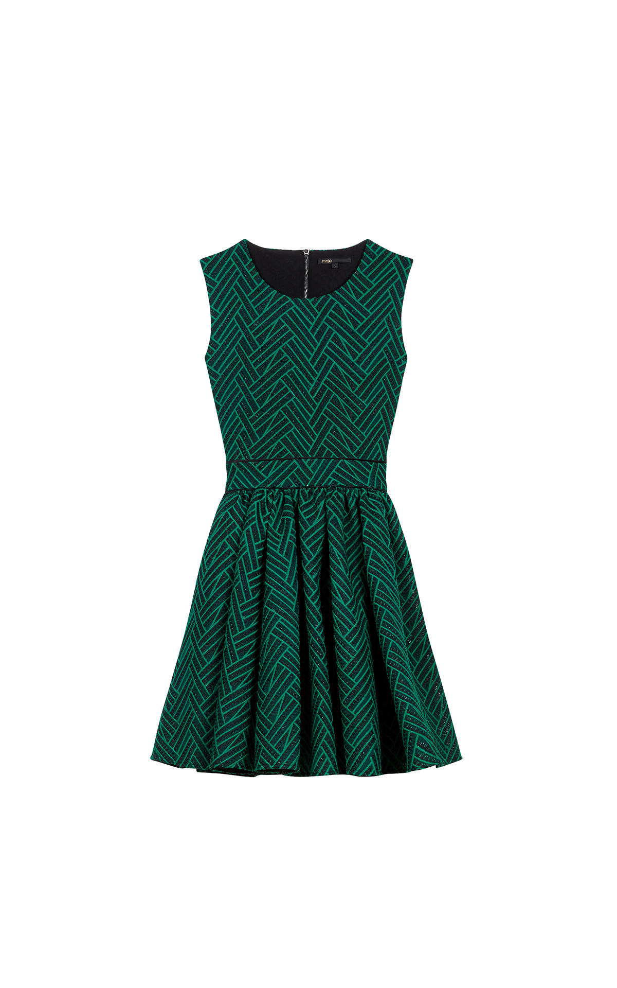 Maje Green Dress at The Bicester Village Shopping Collection