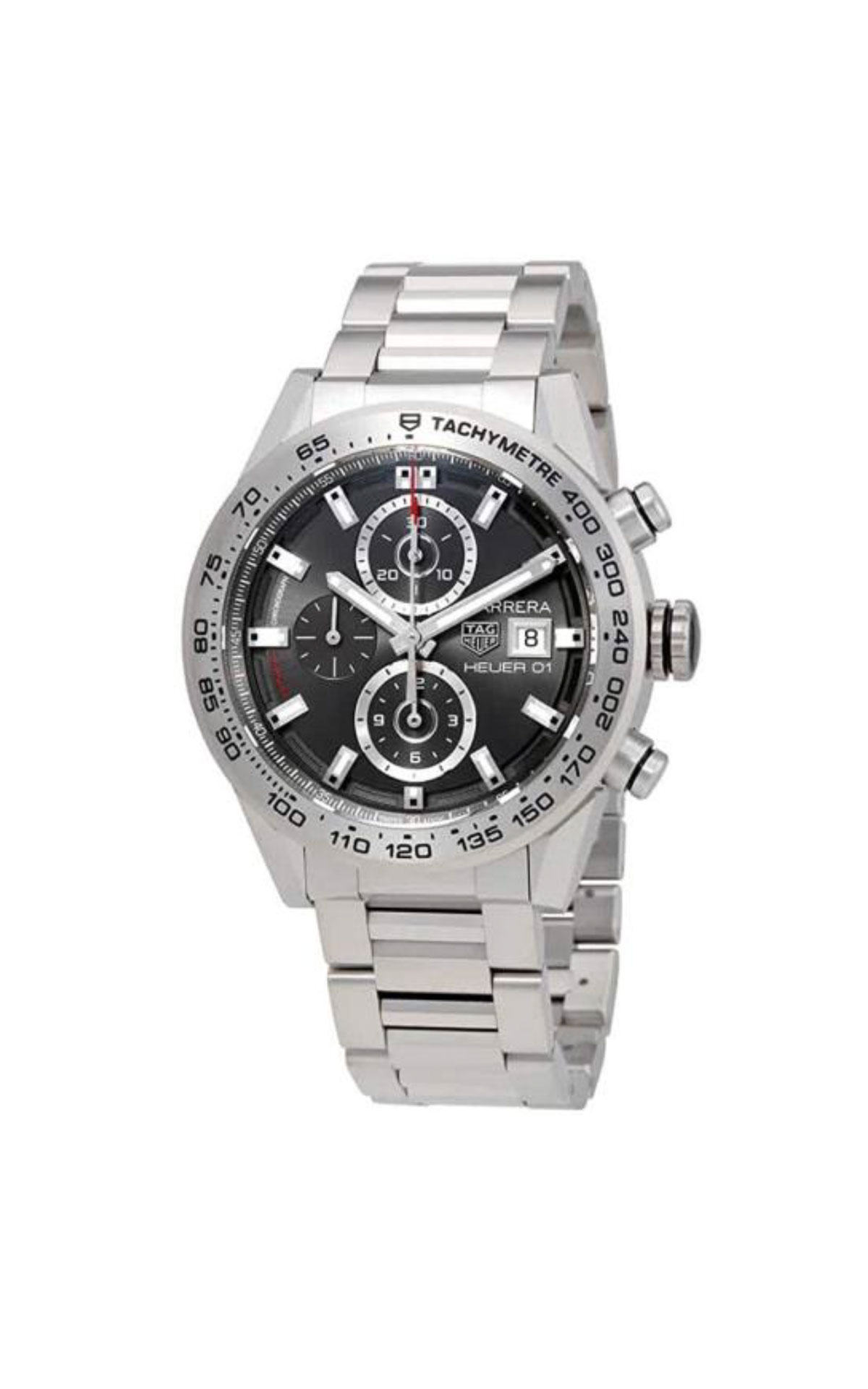 Silver watch for man TAG Heuer