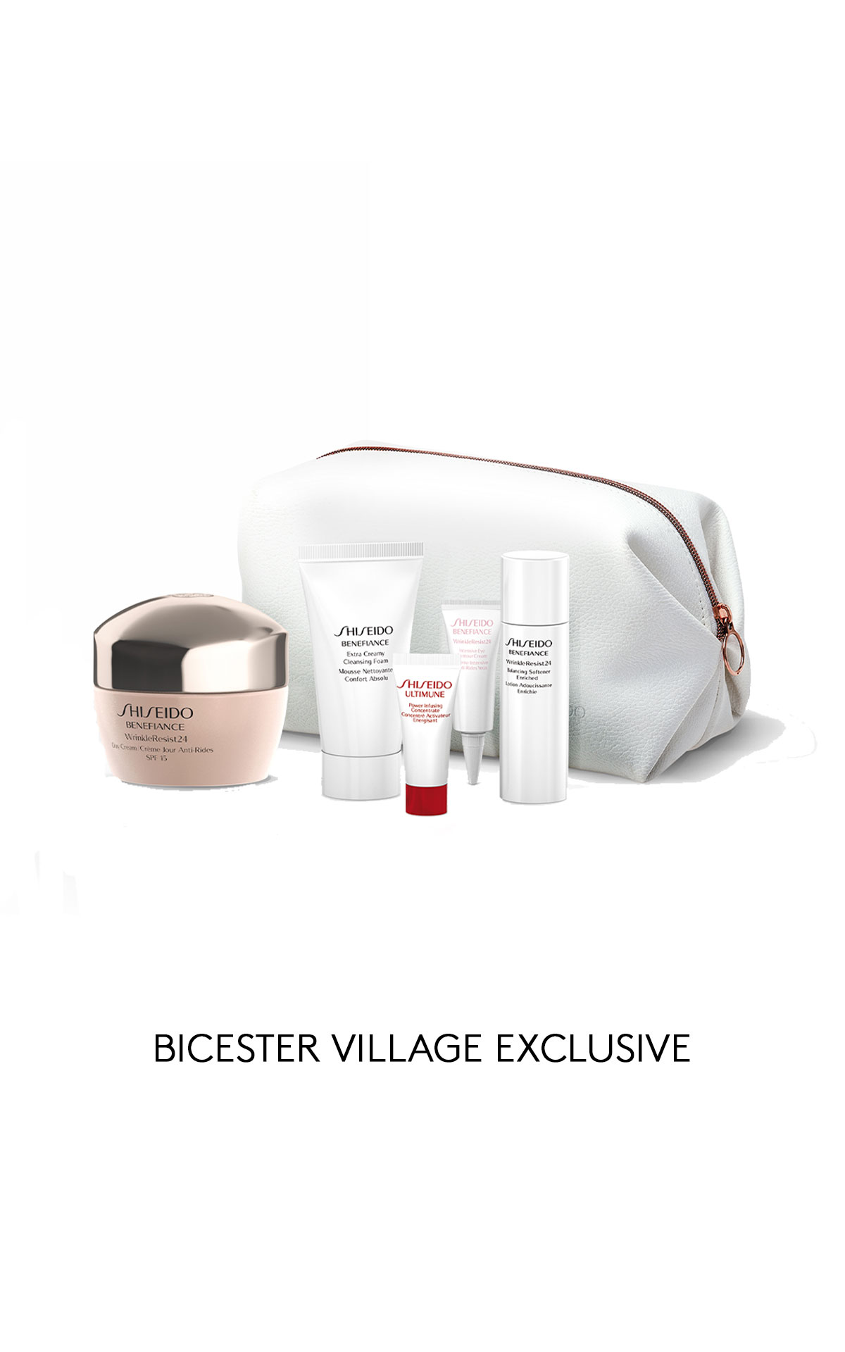 Beaute Prestige International Shiseido Benefiance wrinkleresist 24 pouch set from Bicester Village