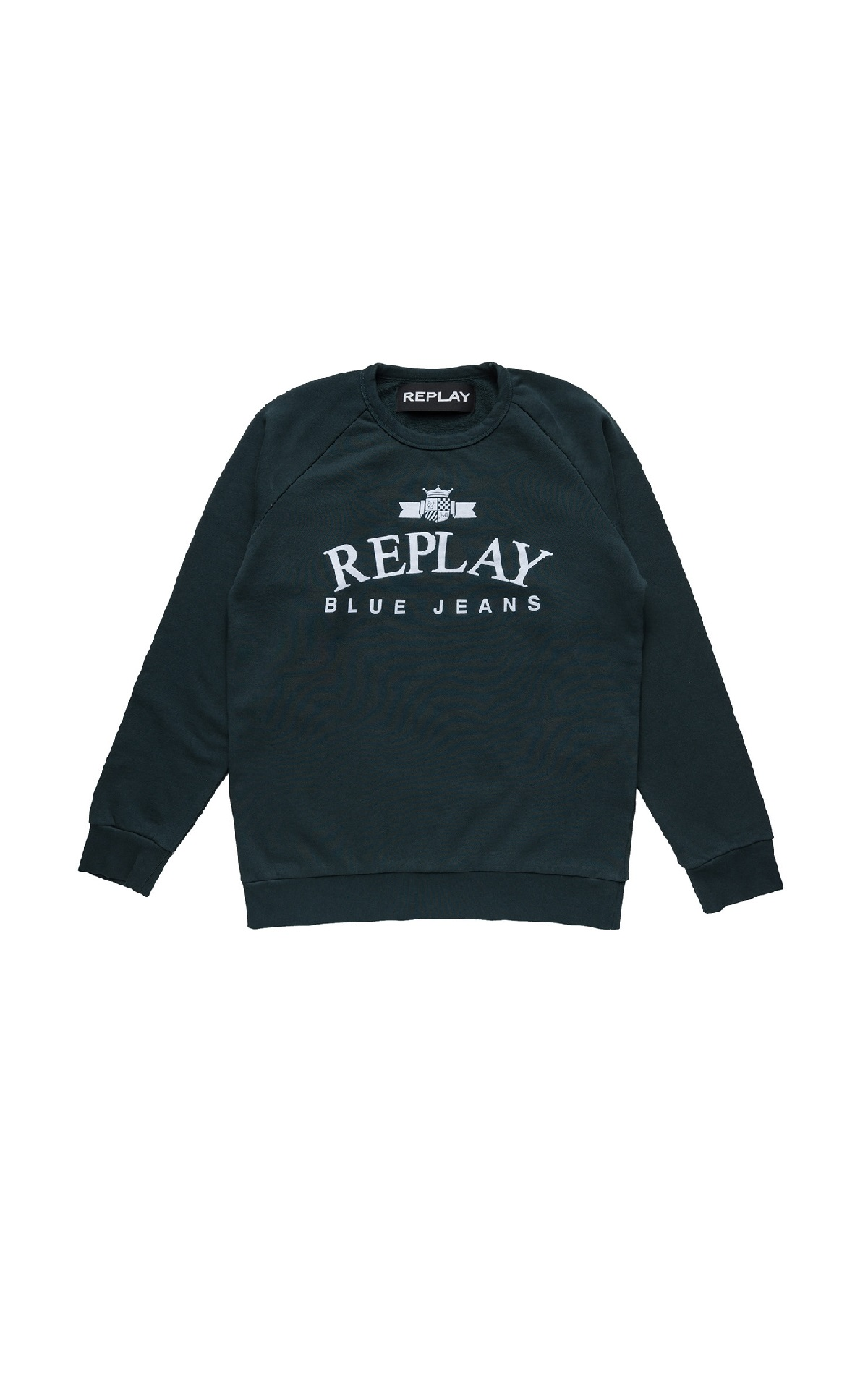 Black sweatshirt with logo Replay