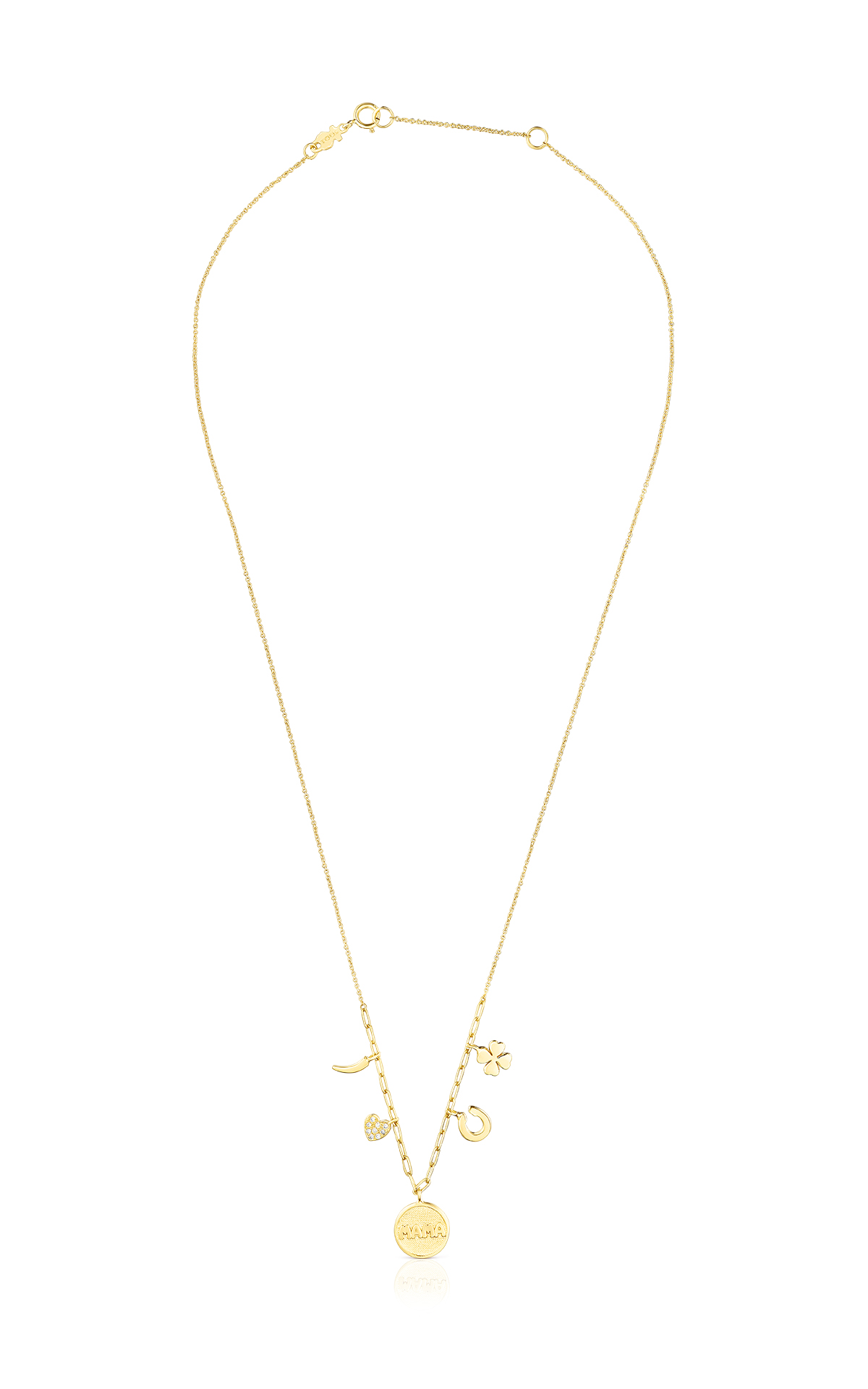 Gold necklace with diamonds Tous