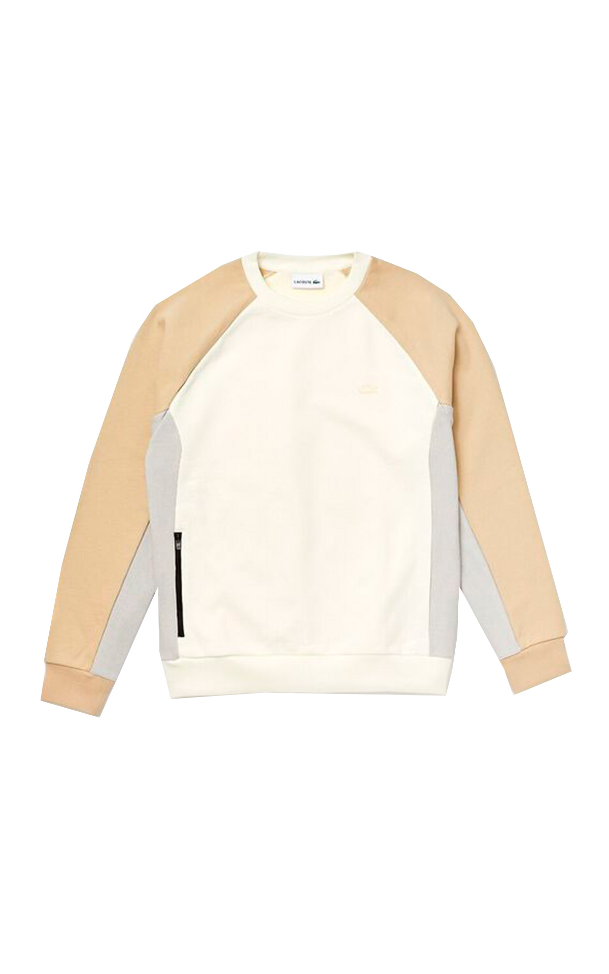 Beige and white sweatshirt Lacoste