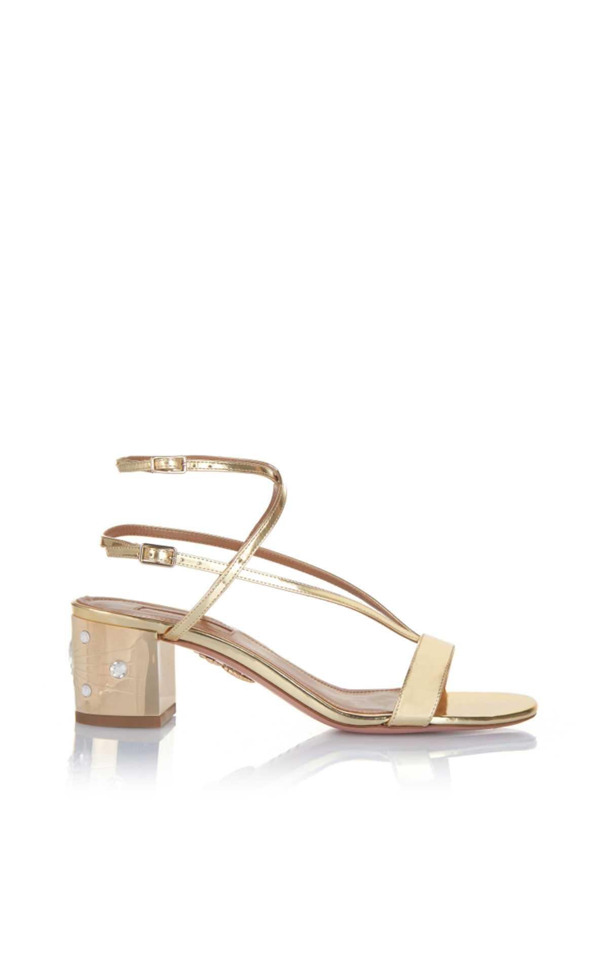 Aquazzura Sunset siren sandal 50 light gold from Bicester Village