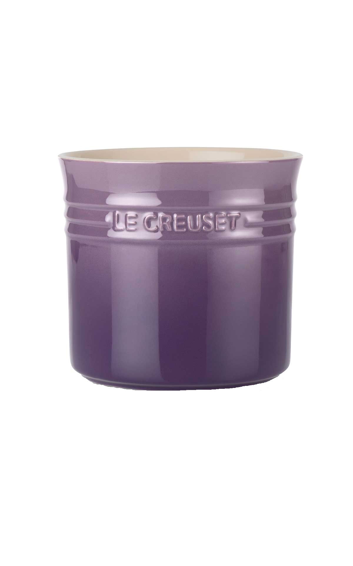 Purple utensil pot from Le Creuset