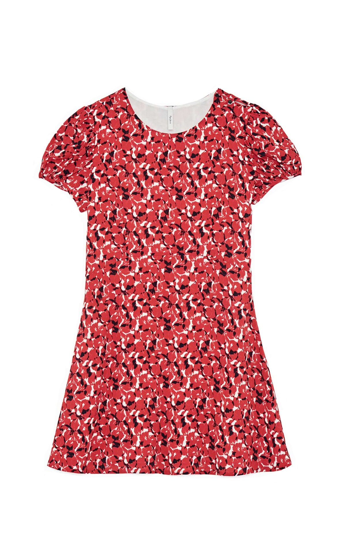 Red flowered dress Dua Lipa x Pepe Jeans