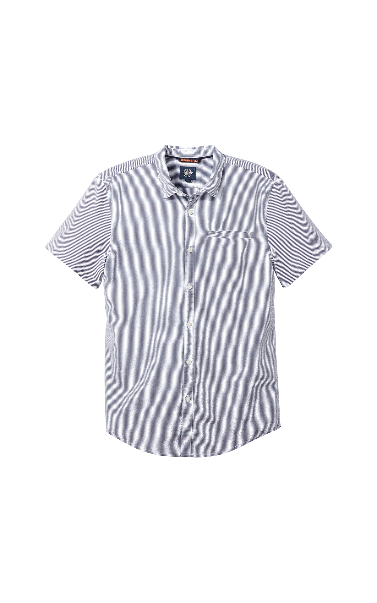 Grey short sleeves striped shirt for man Dockers