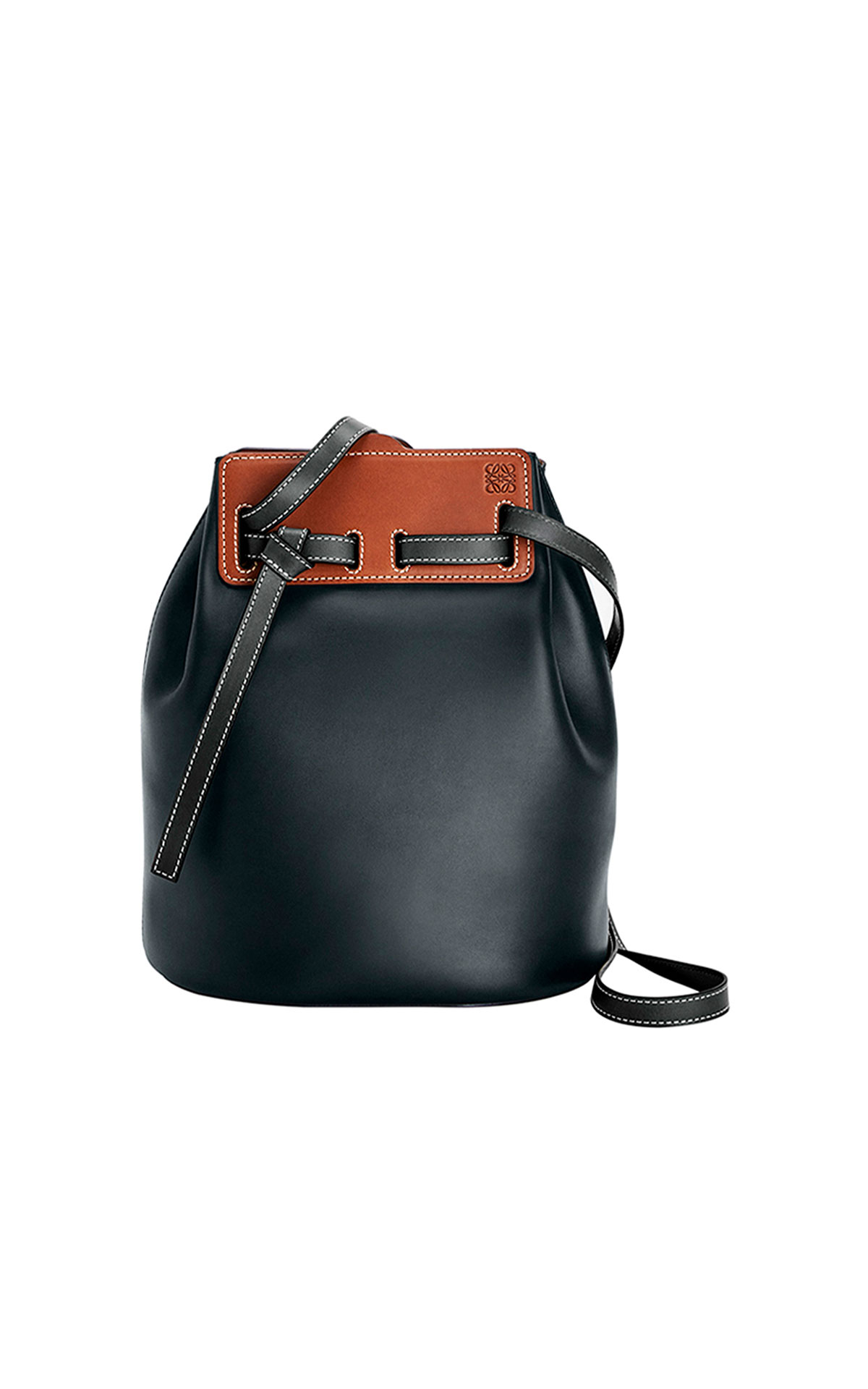 LOEWE Lazo Bucket Bag in Black at The Bicester Village Shopping Collection
