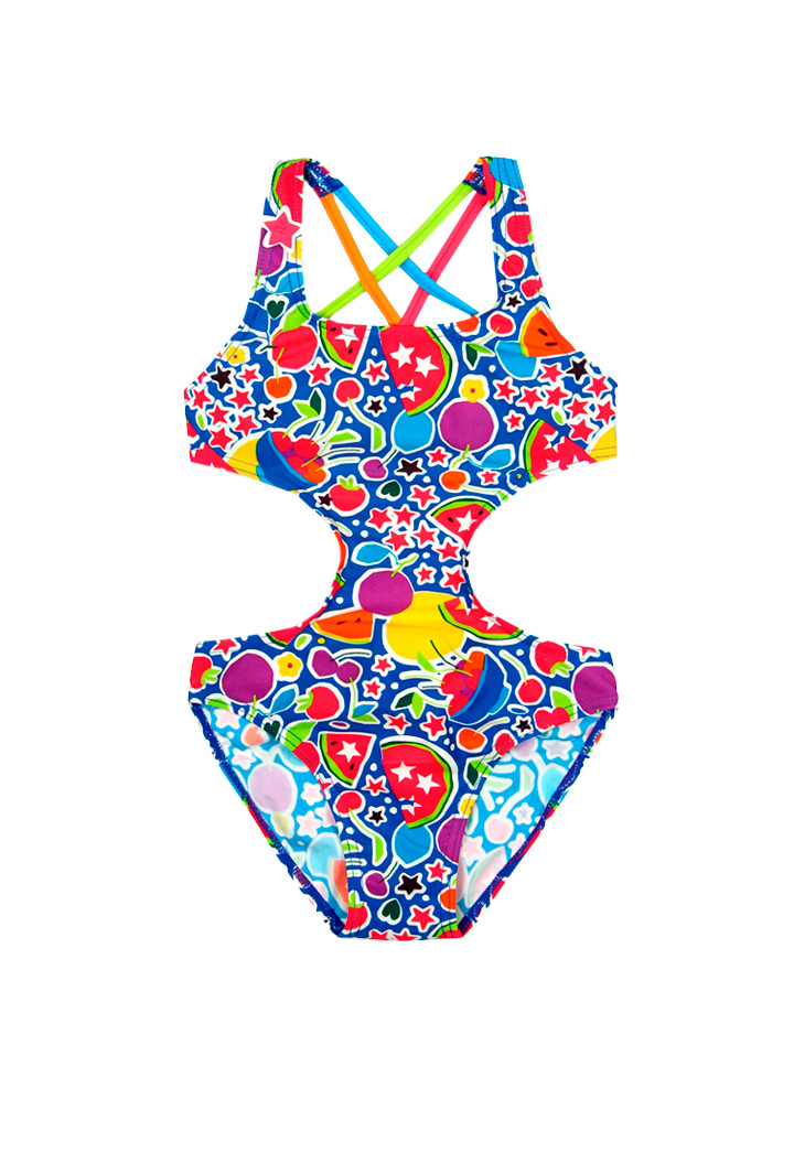 Swimsuit with a fruit print girl Bóboli