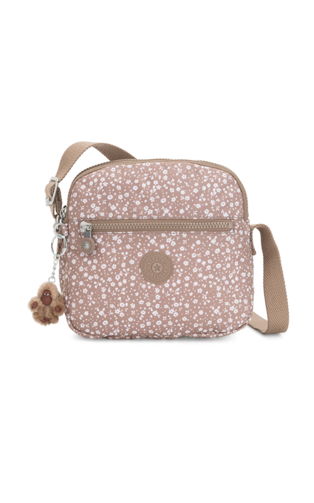 Beige printed small bag Kipling