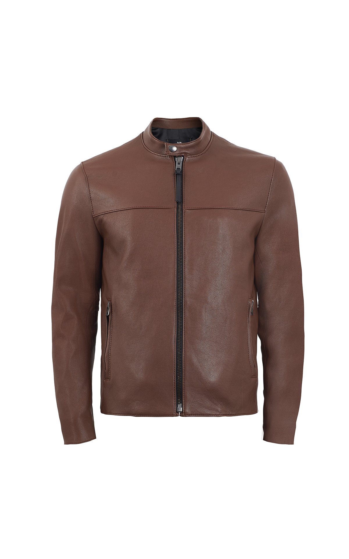 Brown leather jacket Coach