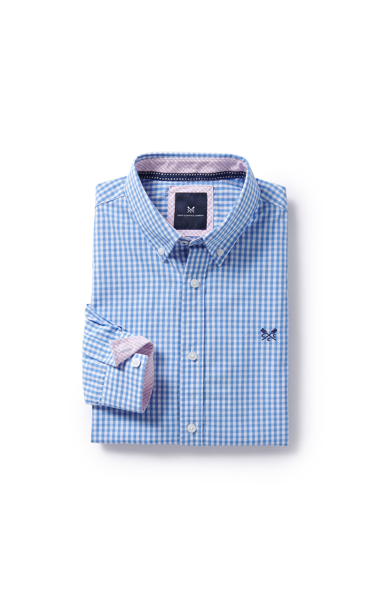 Savoy Taylors Guild Crew Clothing Company Oxford blue shirt from Bicester Village