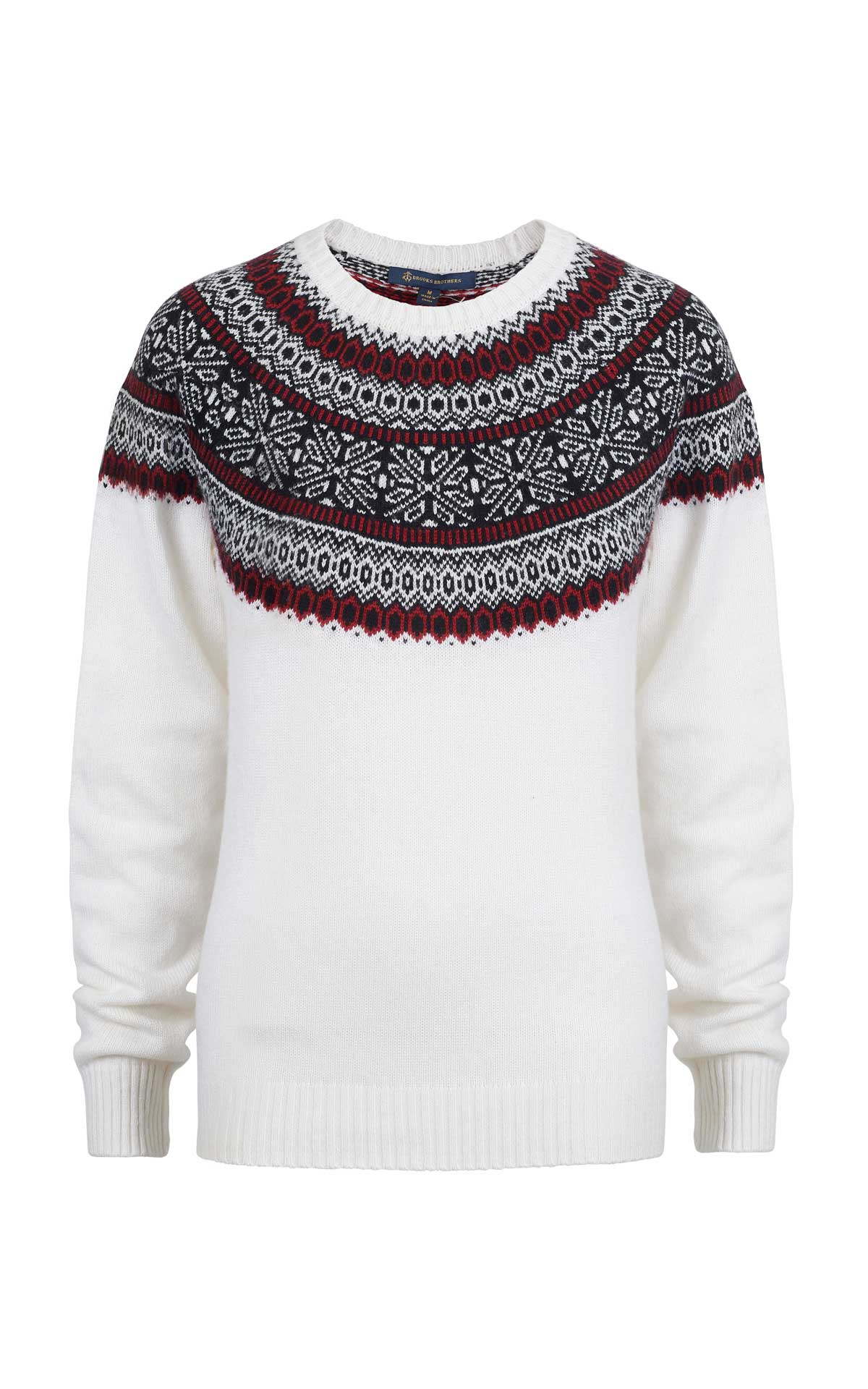 White printed sweater Brooks Brothers