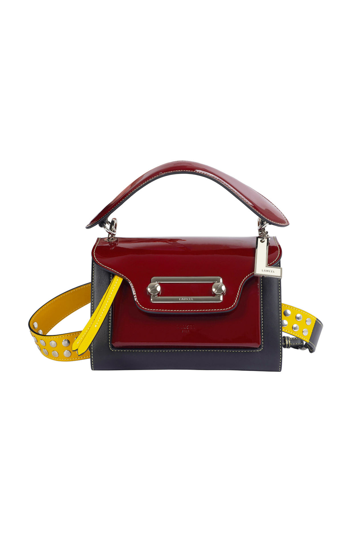 Burgundy bag woman Lancel