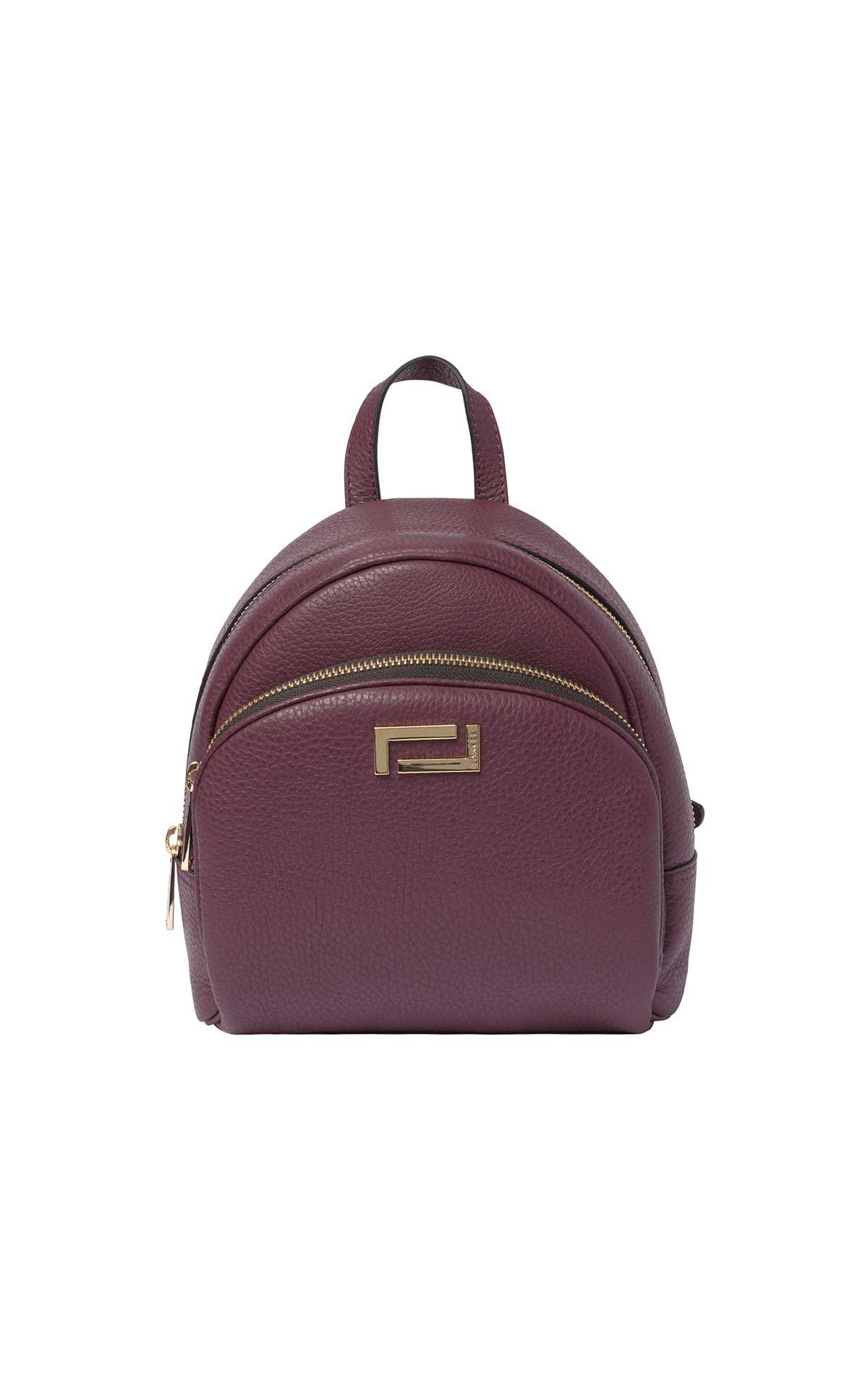 Small burgundy backpack woman Lancel