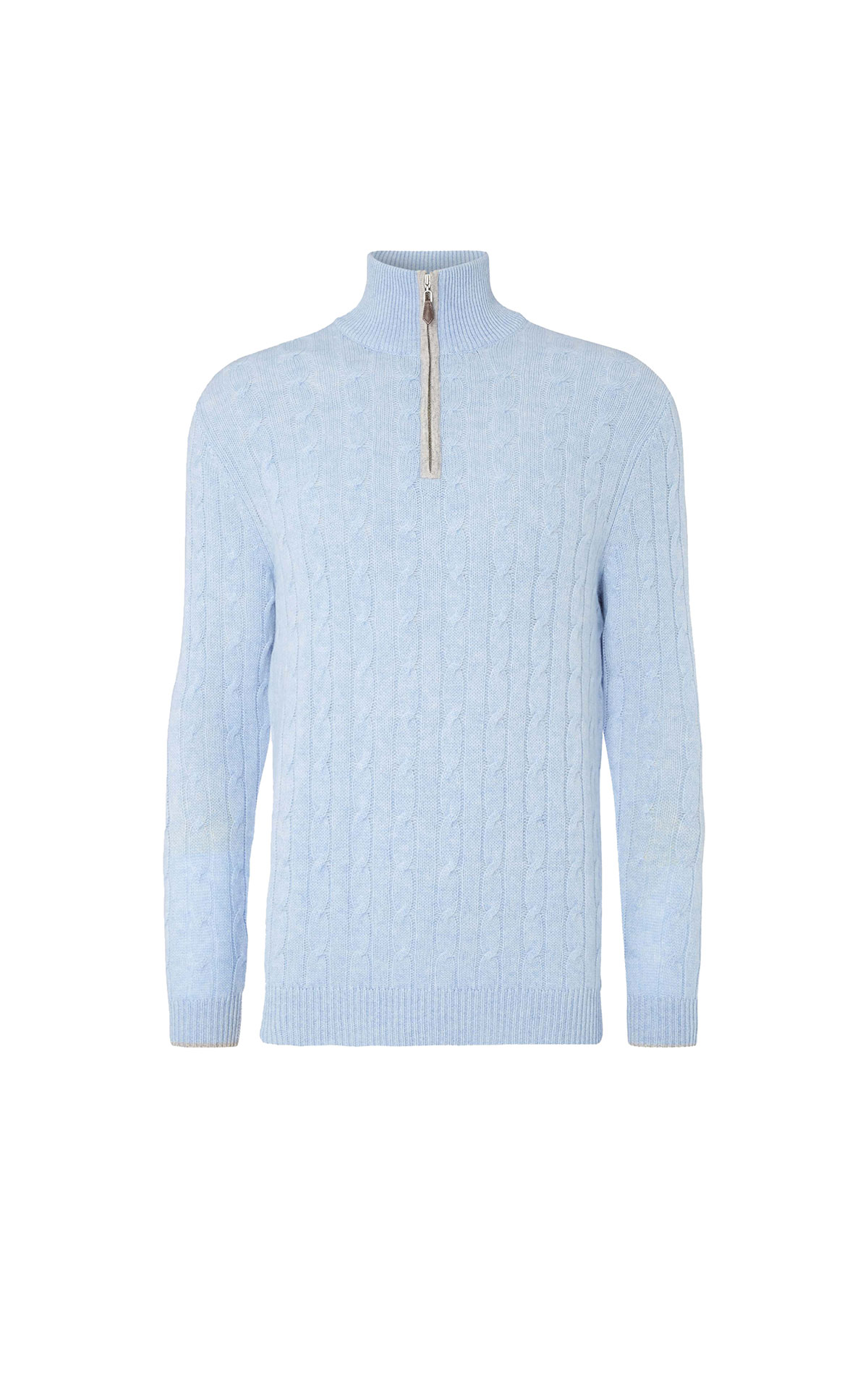 N.Peal Men's cable 1/2 zip  from Bicester Village