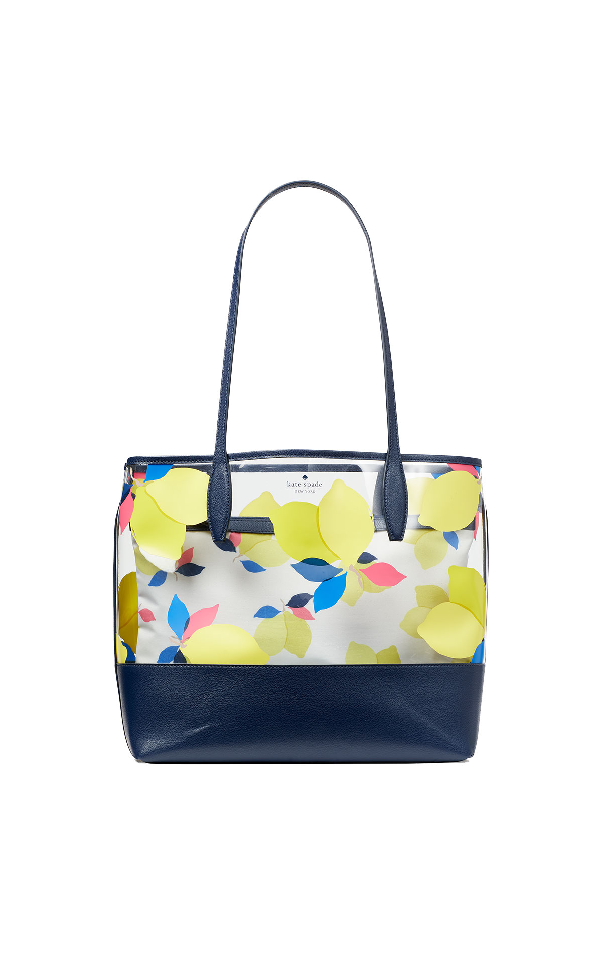 kate spade new york Ash see-through lemon zest large triple compartment tote from Bicester Village