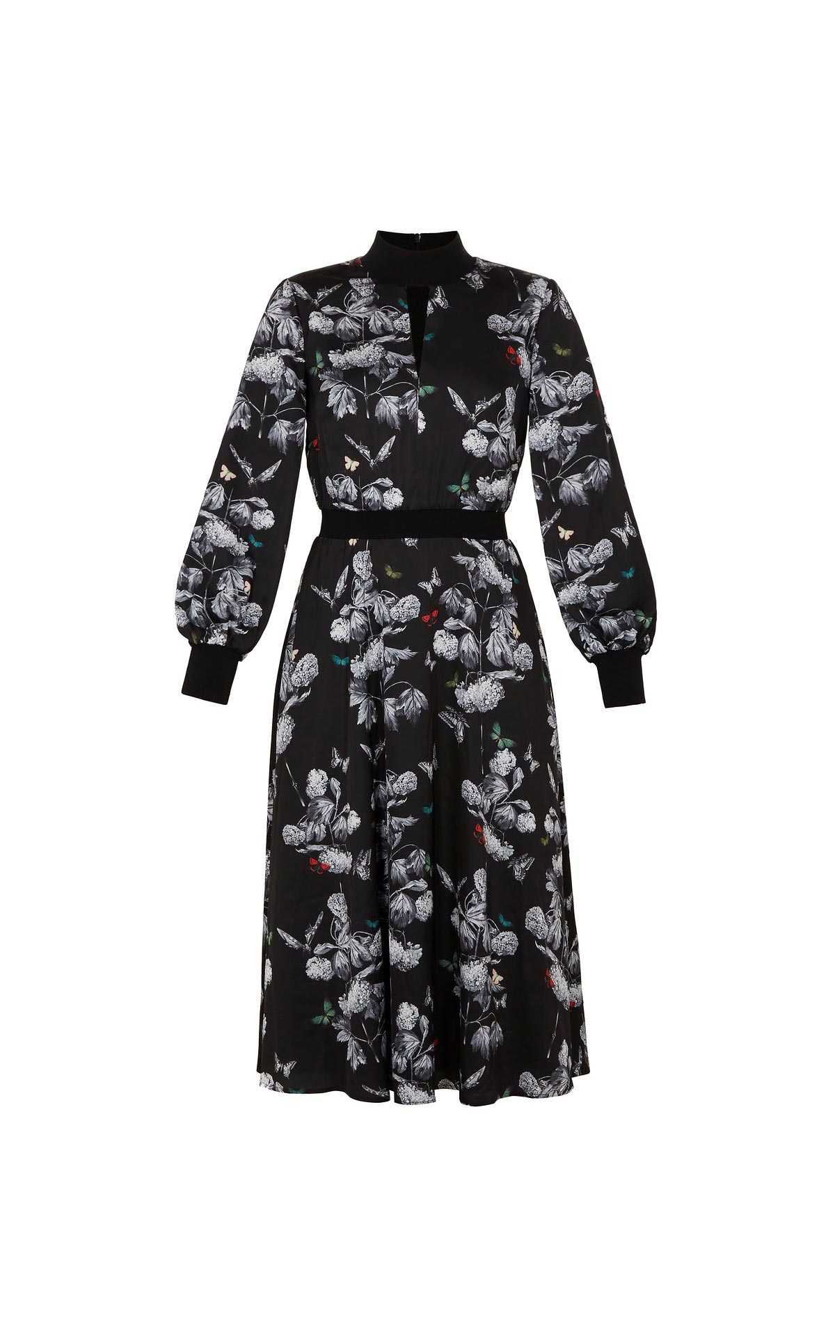 Vestido negro flores mujer Ted Baker