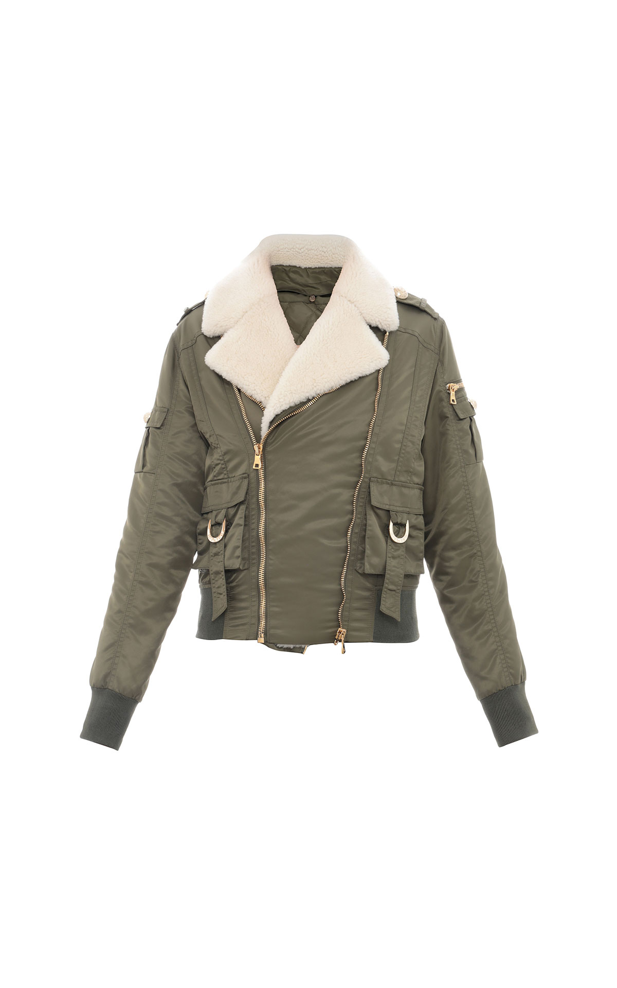 Balmain Shearling bomber jacket from Bicester Village