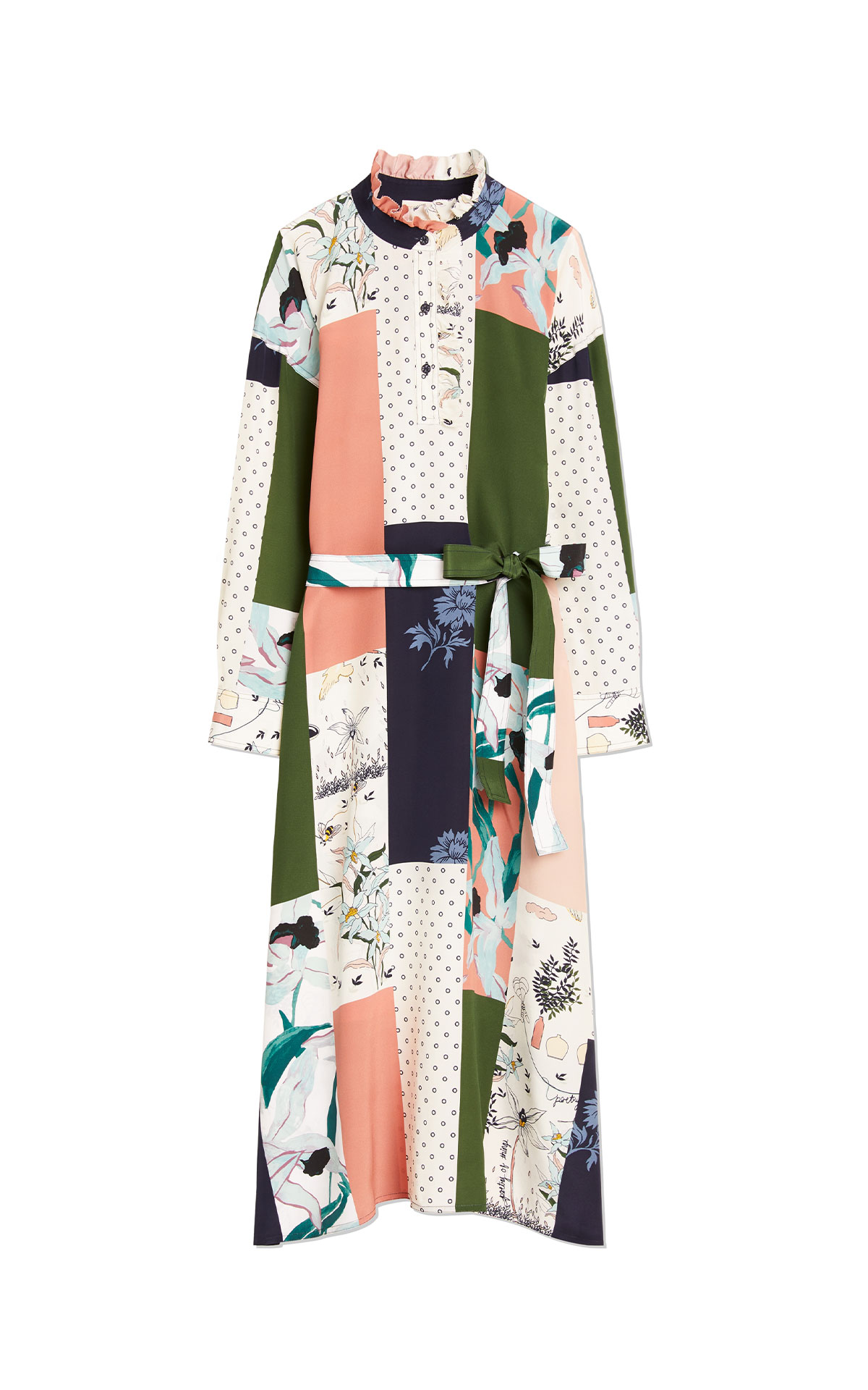 Tory Burch Patchwork silk shirtdress from Bicester Village