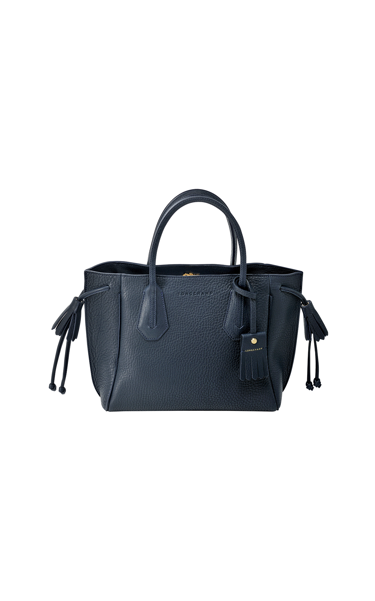 Longchamp Penelope leather tote in midnight blue from Bicester Village