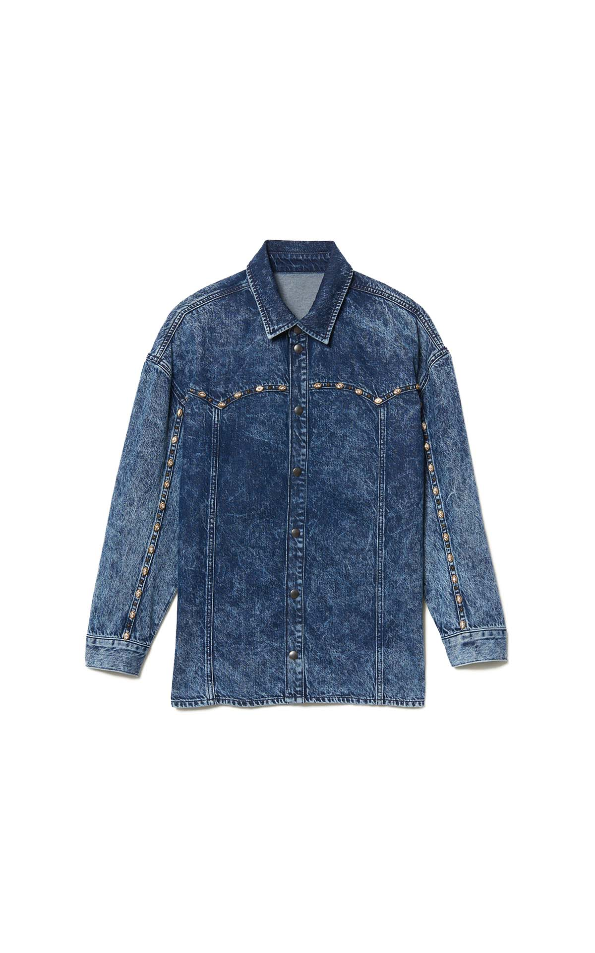 Sandro studded denim paris shirt at he Bicester Village Shopping Collection
