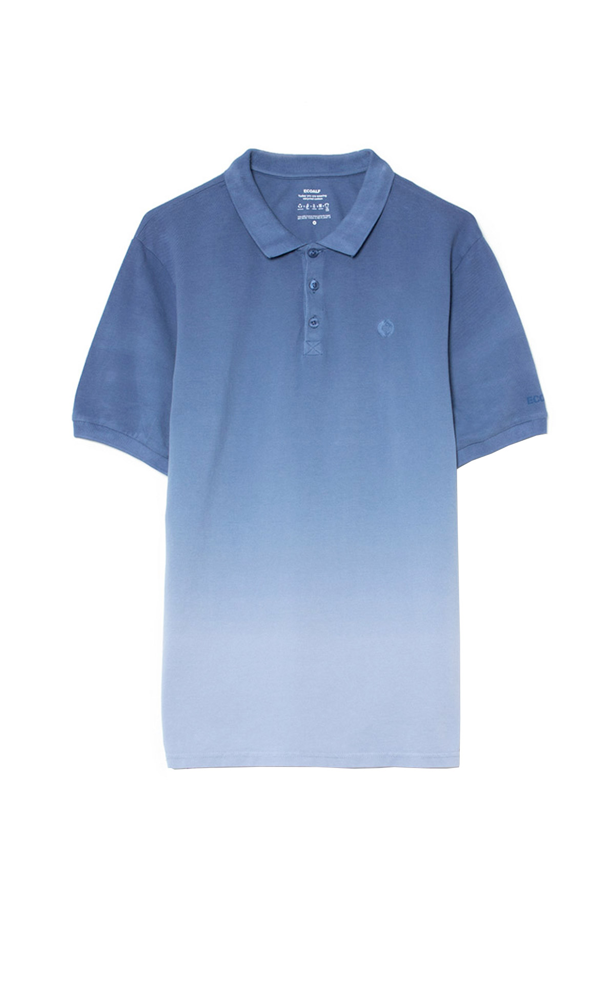 Polo degradado azul Ecoalf