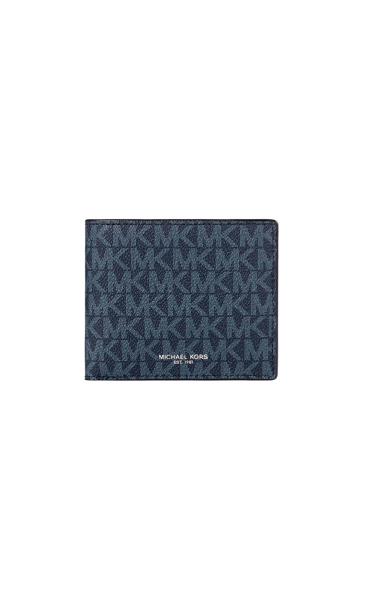Michael Kors Mens Cooper billfold with coin pocket in admiral blue at The Bicester Village Shopping Collection