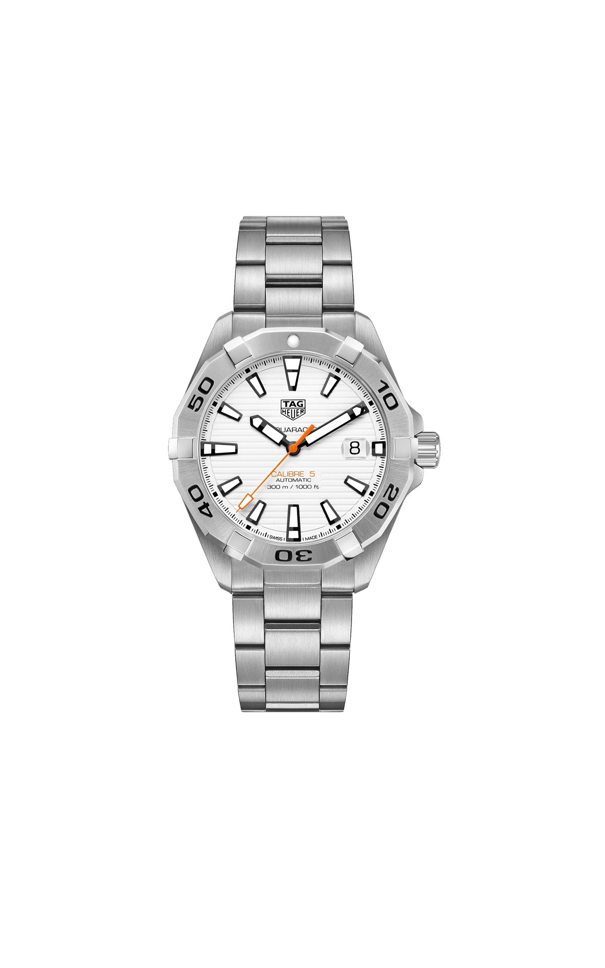 AQUARACER 41mm AUTOMATIC MOVEMENT, CALIBER 5 WHITE DIAL