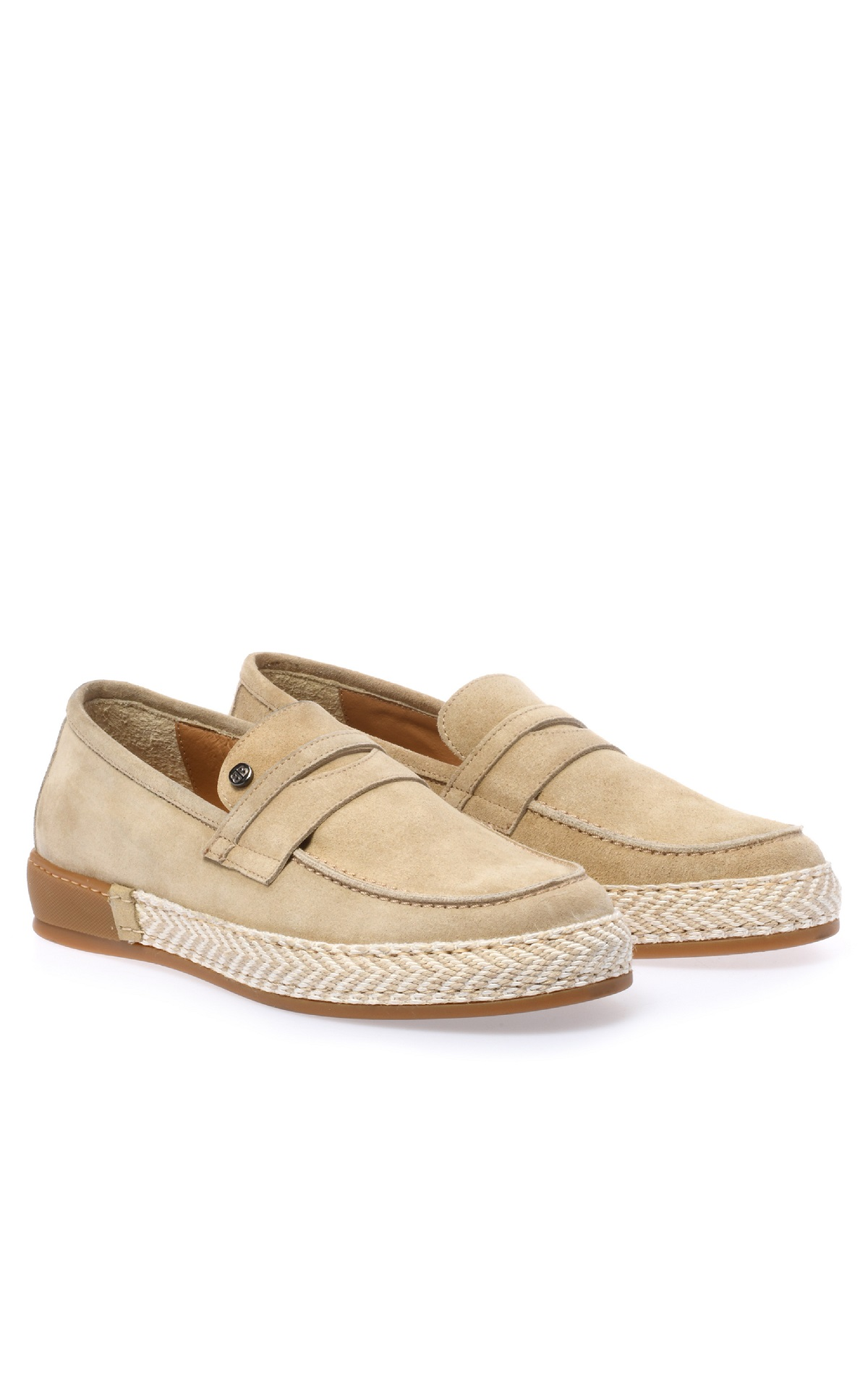 Beige shoe with raffia for woman Baldinini