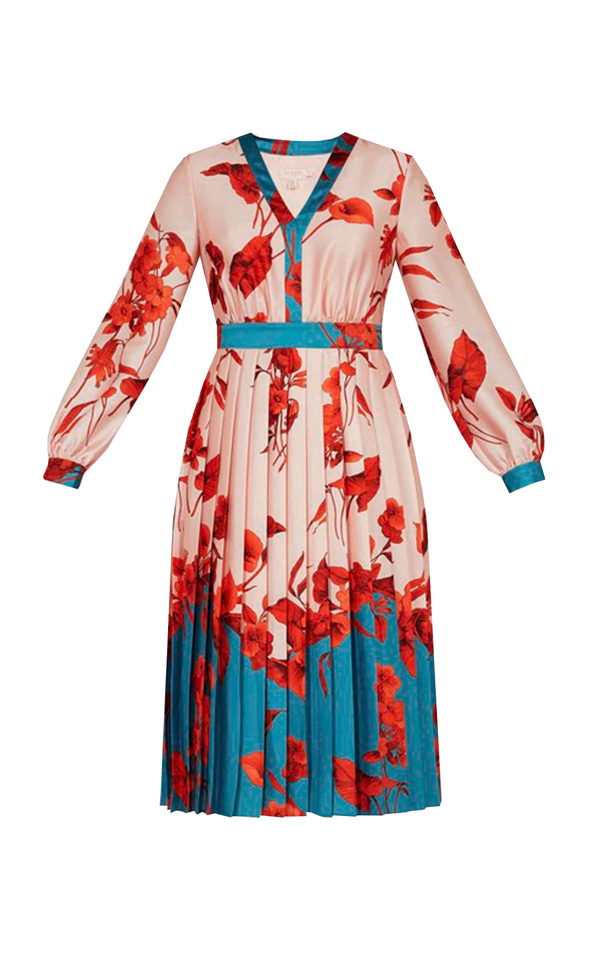 Pleated dress with a flower print Ted Baker