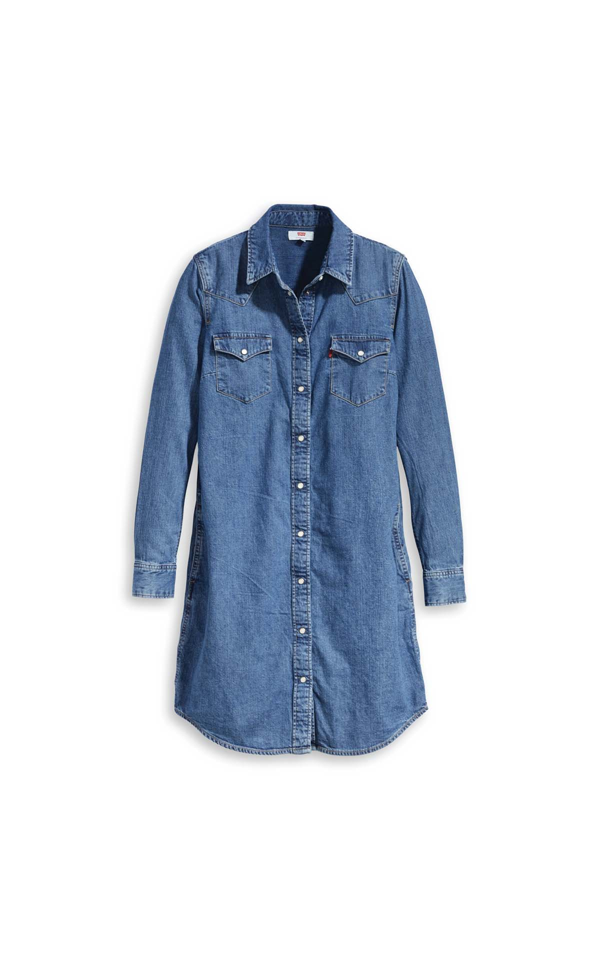 Levi's Ultimate western dress freedom in blue at The Bicester Village Shopping Collection