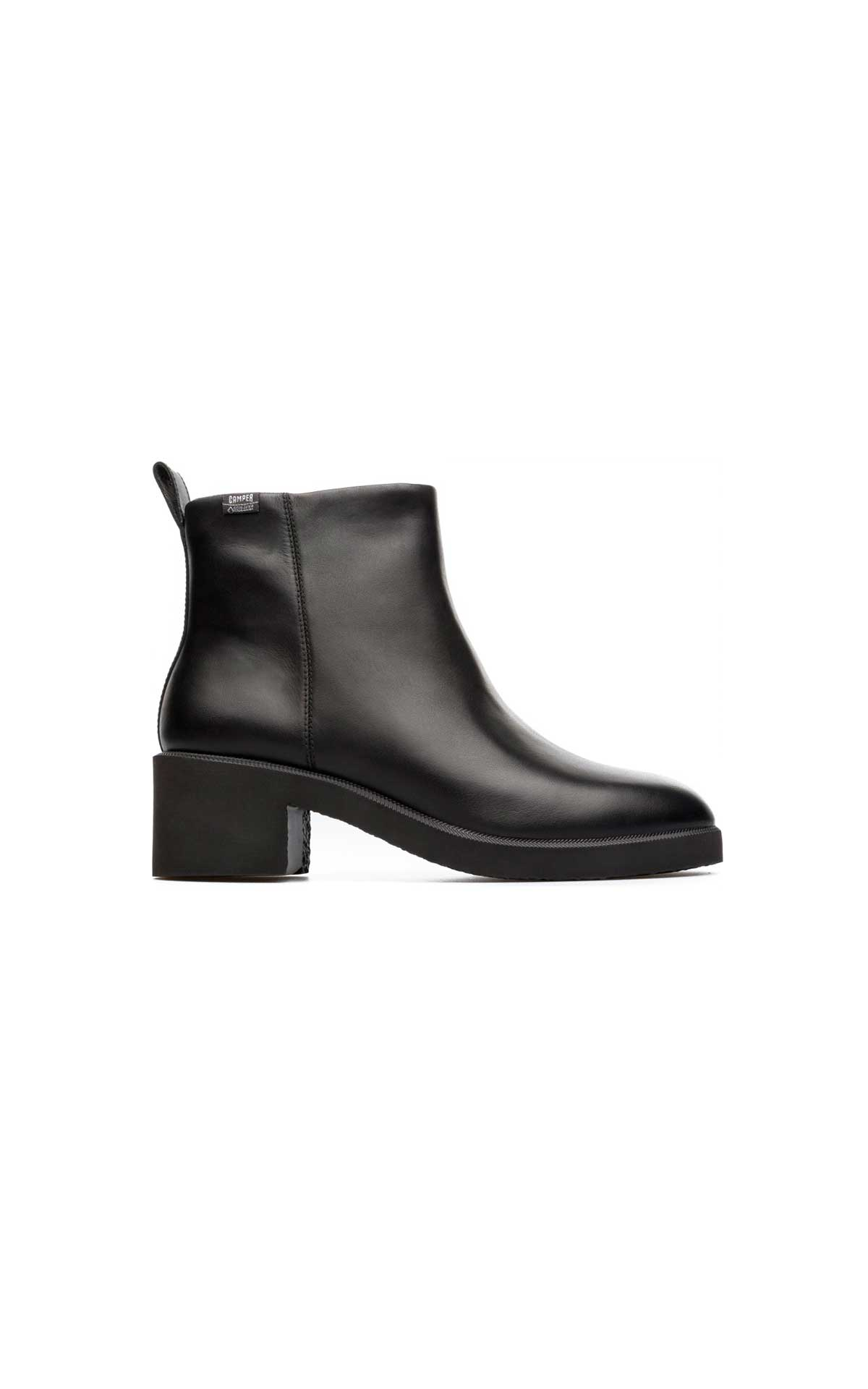 Black leather ankle boot Camper