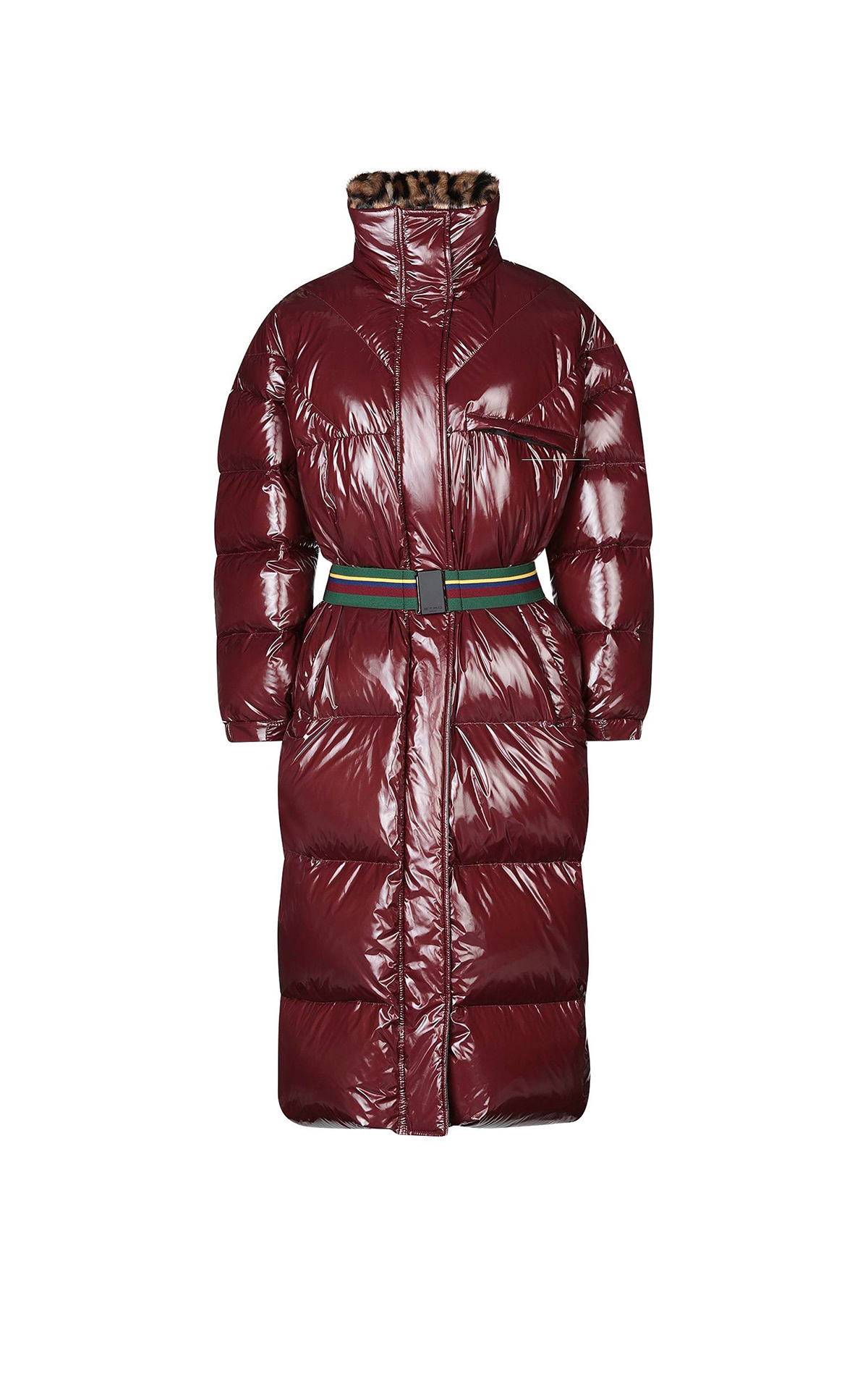 Long burgundy puffer coat Etro