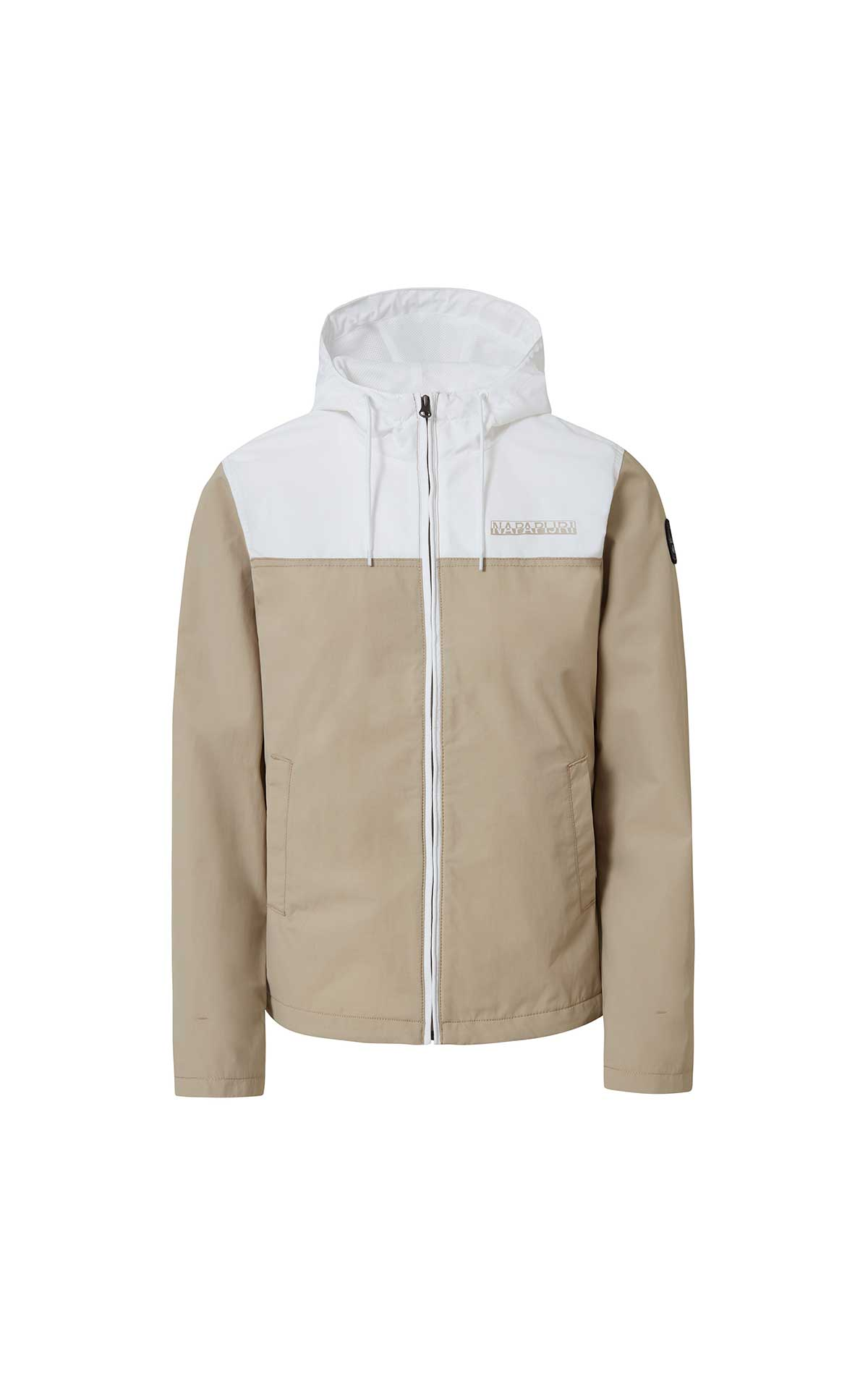 Beige and white man jacket Napapijri