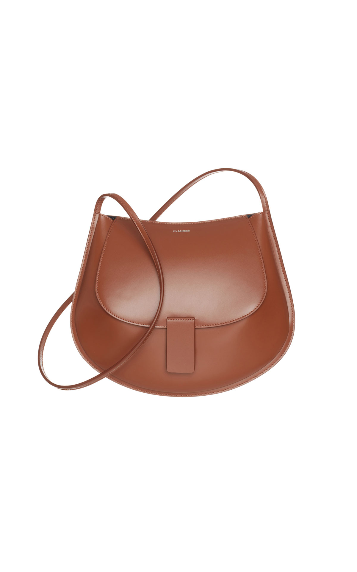 Jil Sander Crescent SM bag in brown from Bicester Village