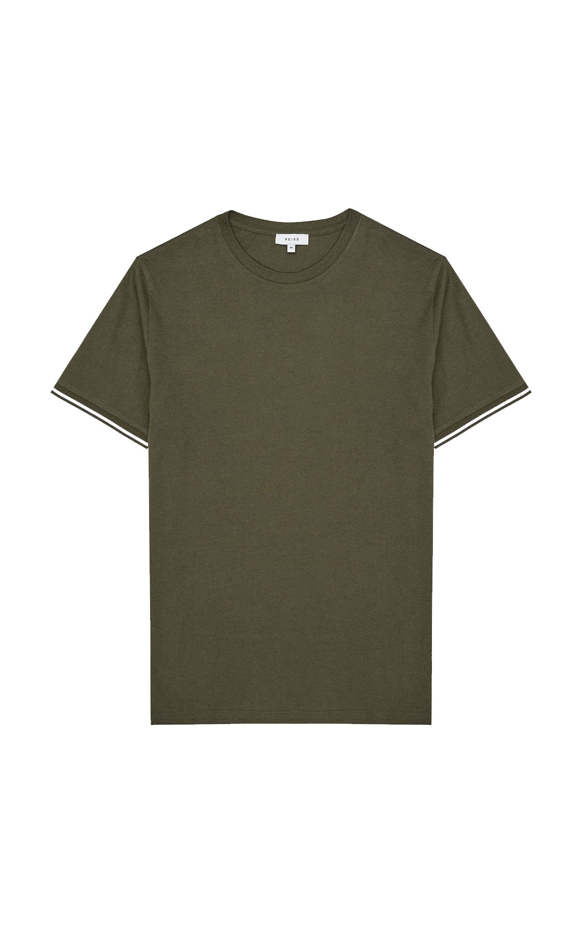 Reiss Harrison army green t-shirt from Bicester Village
