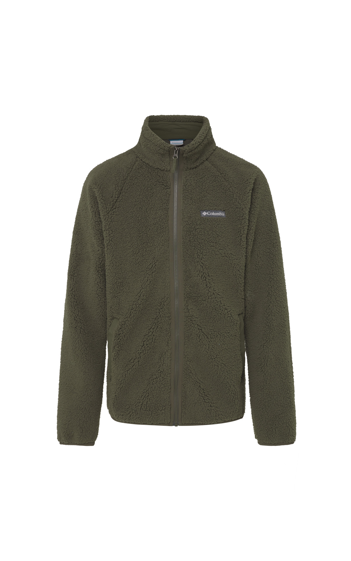 Dark green fleece jacket for men Columbia