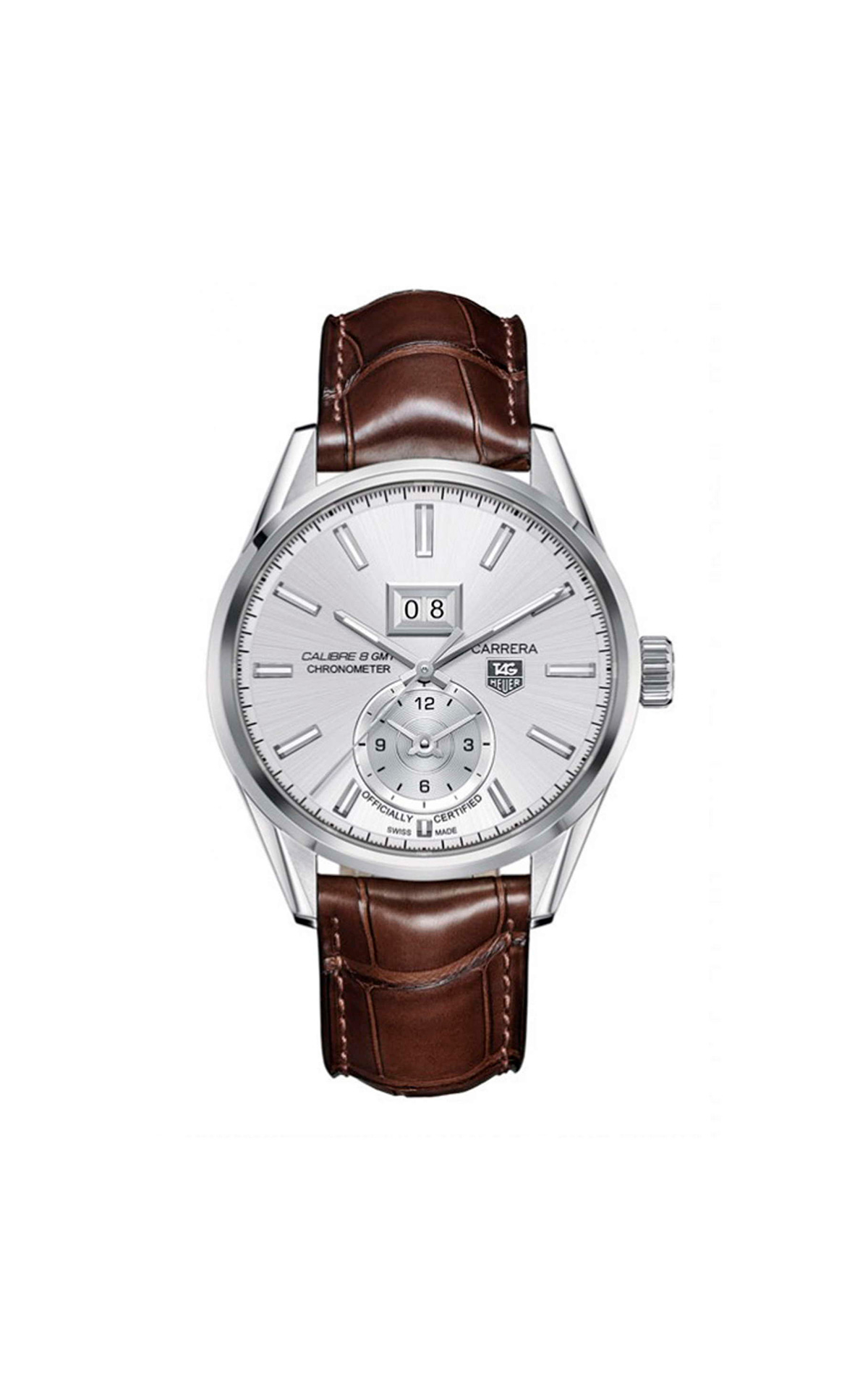 Brown and silver Carrera watch TAG Heuer