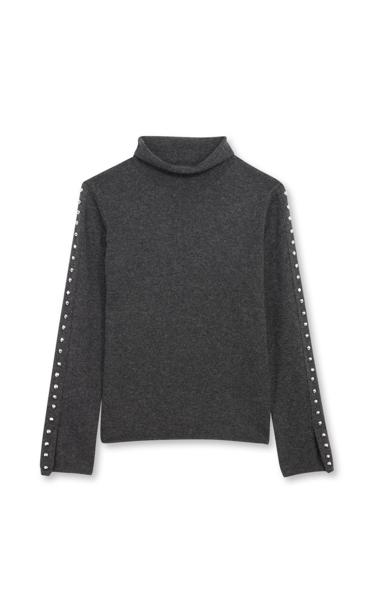 Zadig & Voltaire Mottled grey studded wool jumper