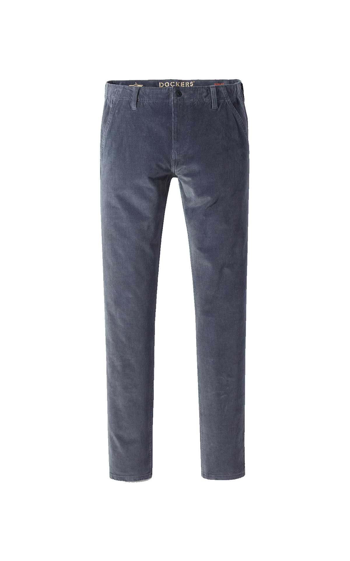 Grey corduroy trousers for man Dockers
