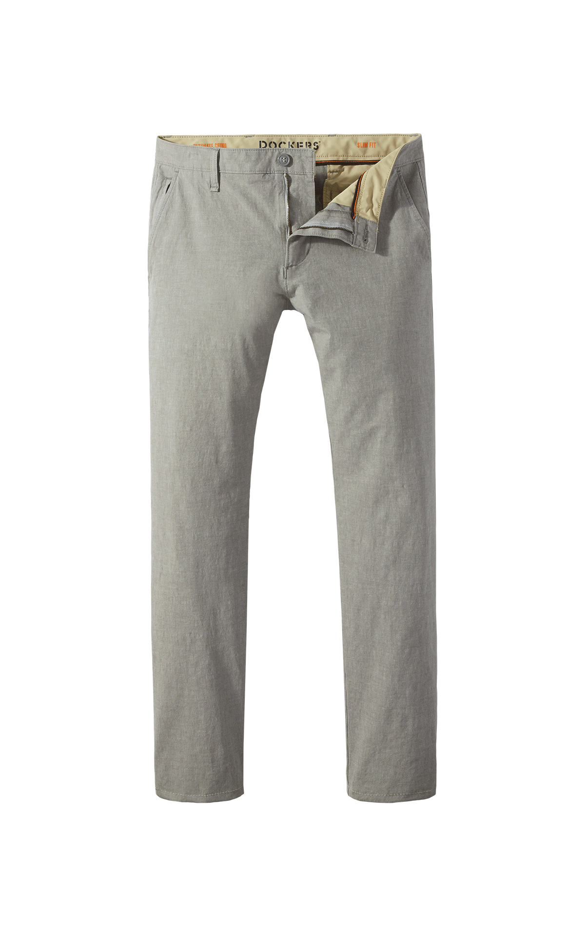 Long light grey chino trouser for man Dockers