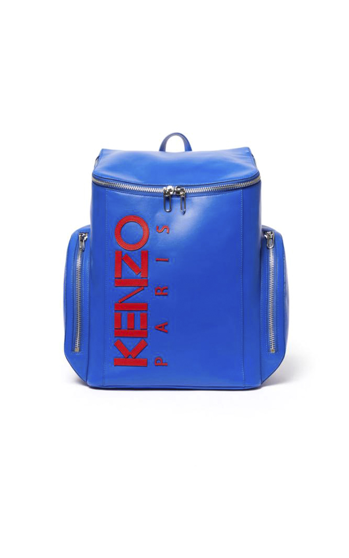 Blue backpack with red logo Kenzo