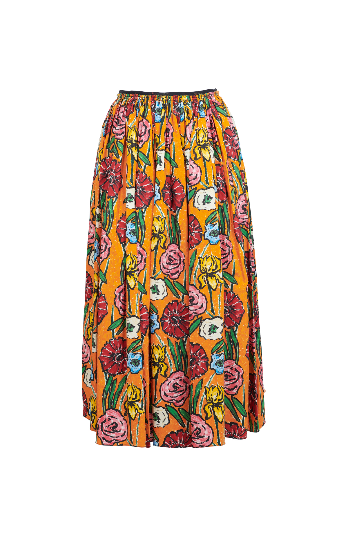 Printed skirt with flowers for woman Marni