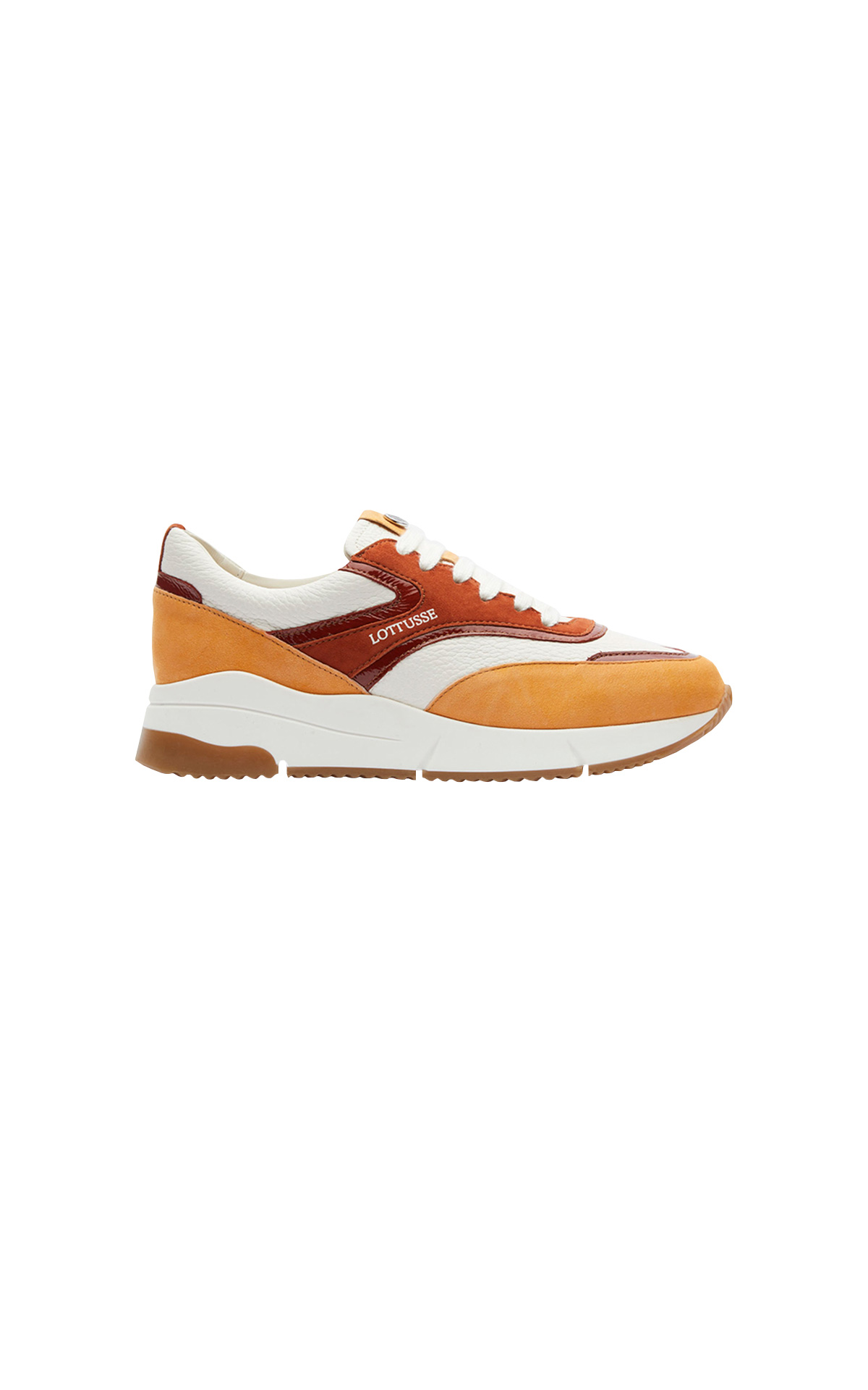 Orange and brown sneakers Lottusse