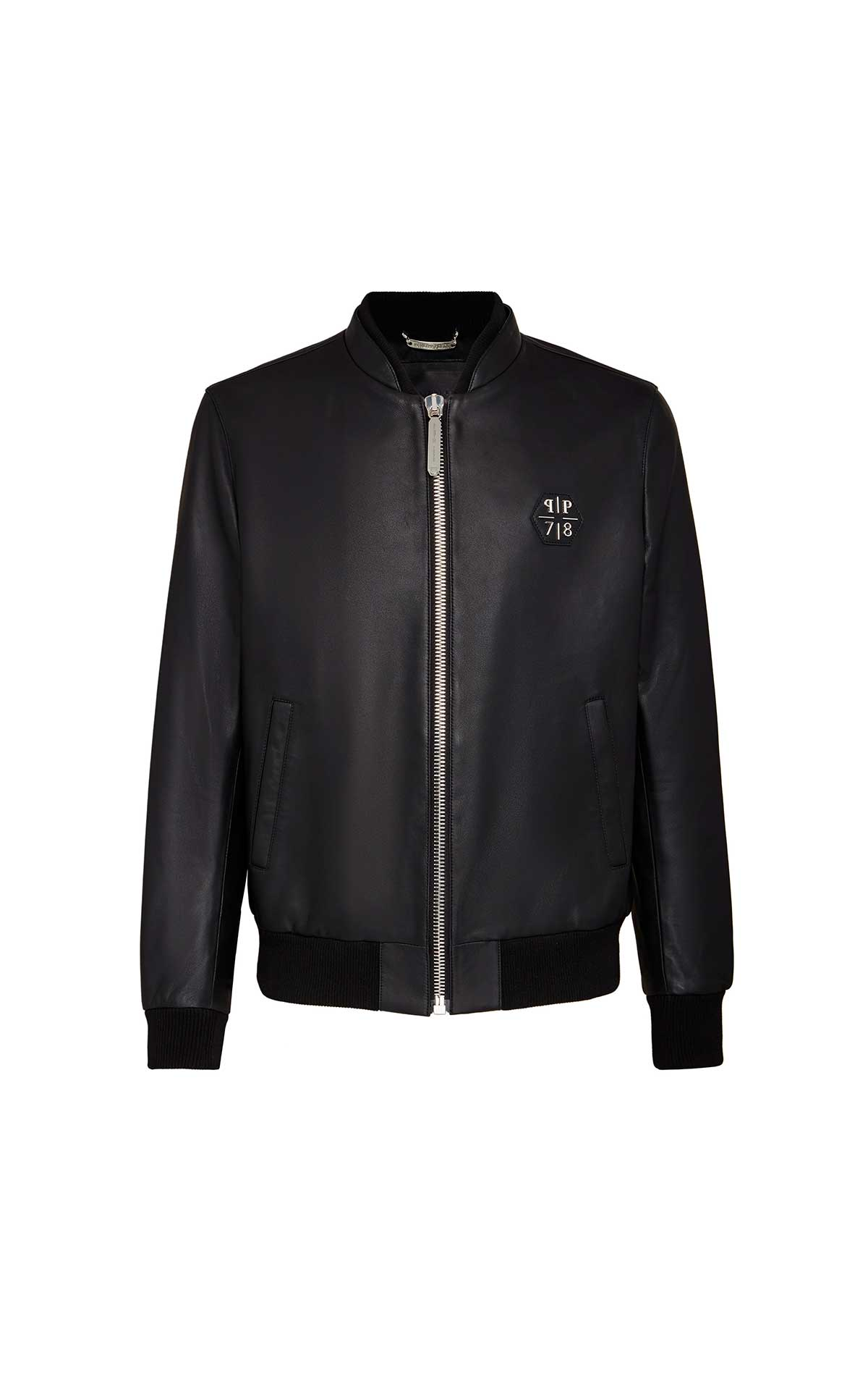 Black leather jacket man Philipp Plein