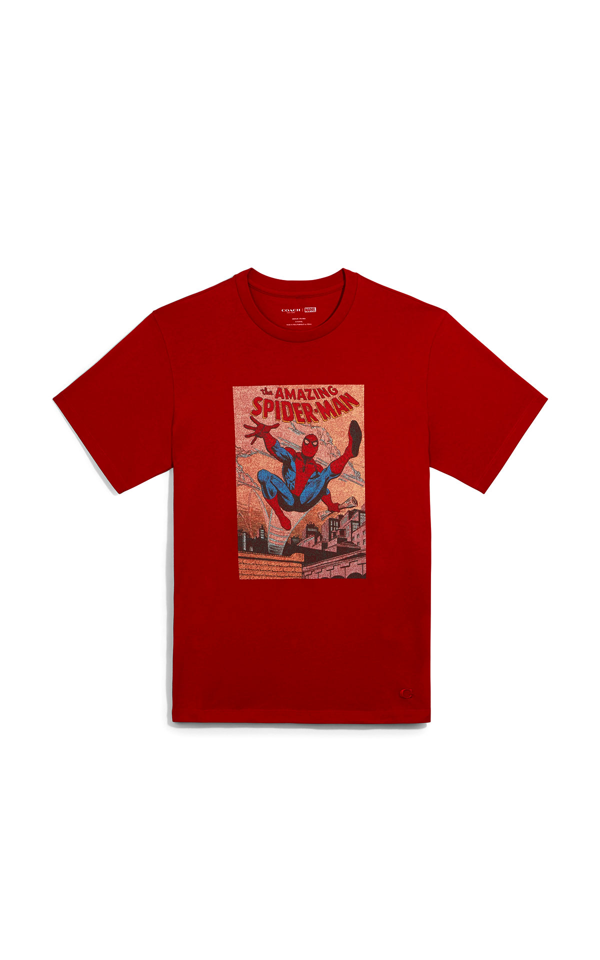 Coach marvel comic tee- spiderman at The Bicester Village Shopping Collection